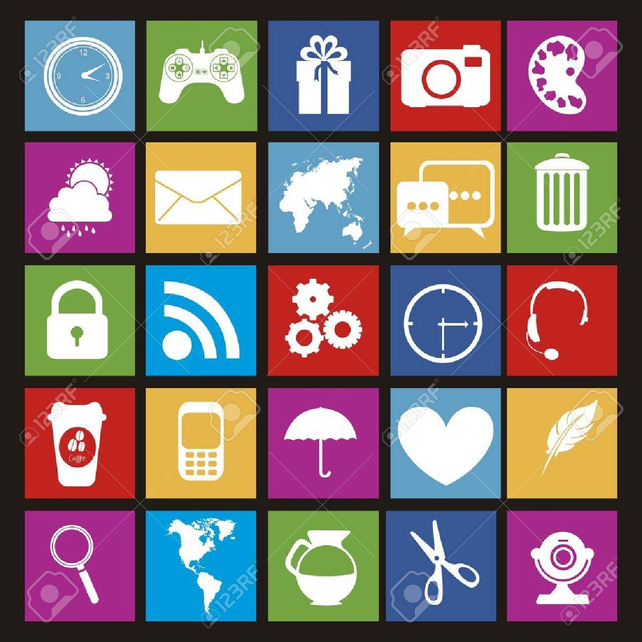 Illustration Of Icons Of Tablet Apps, Apps Market Royalty Free ...