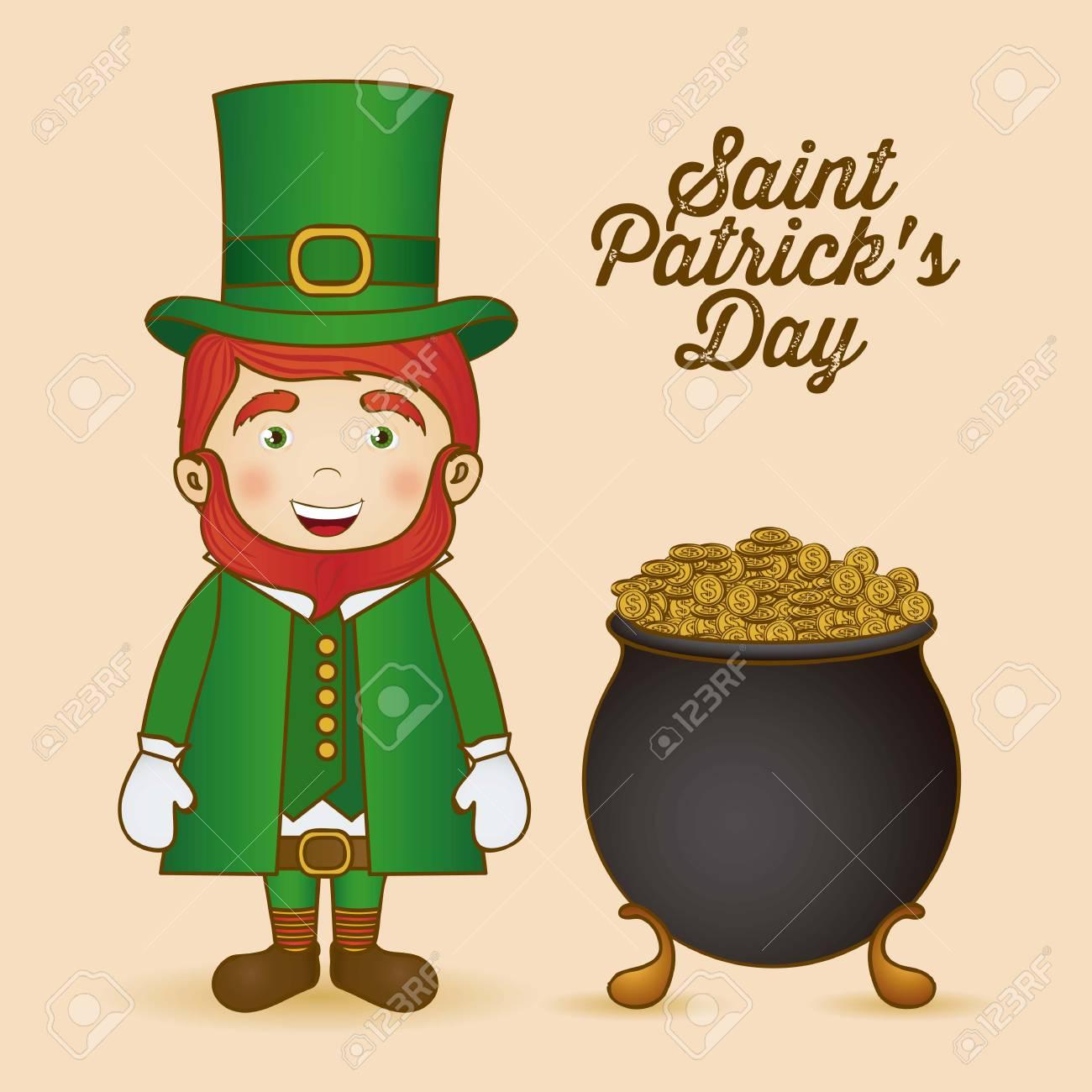 illustration of Saint Patrick's Day, celebration of holiday Stock Vector - 17733975