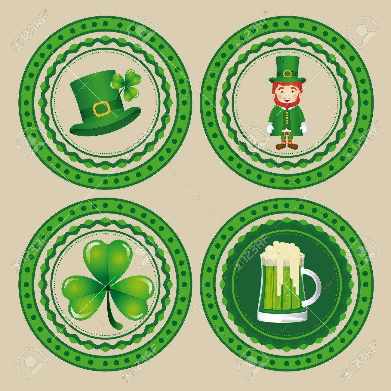 illustration of Saint Patrick's Day, celebration of holiday Stock Vector - 17733893