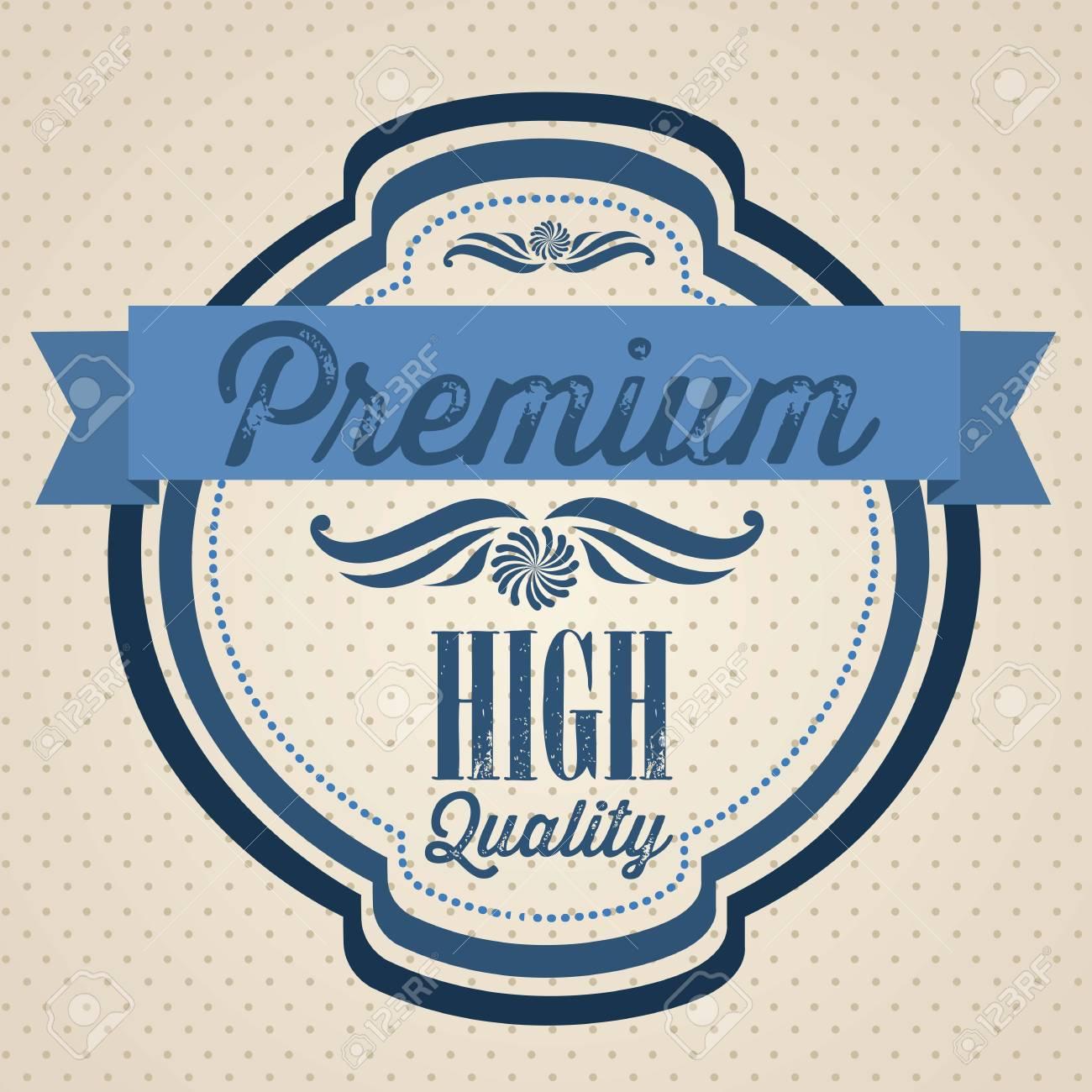 illustration of retro vintage label, Premium Labels Stock Vector - 17733904