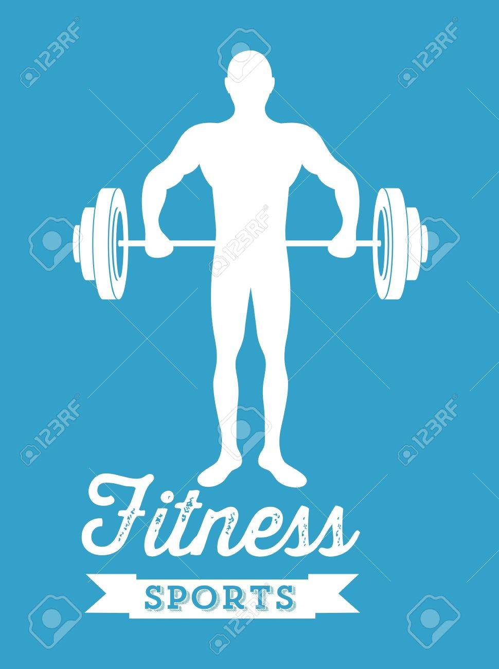 Illustration of Fitness Icons, sports and exercise, caring figure and health, vector illustration Stock Vector - 17786875