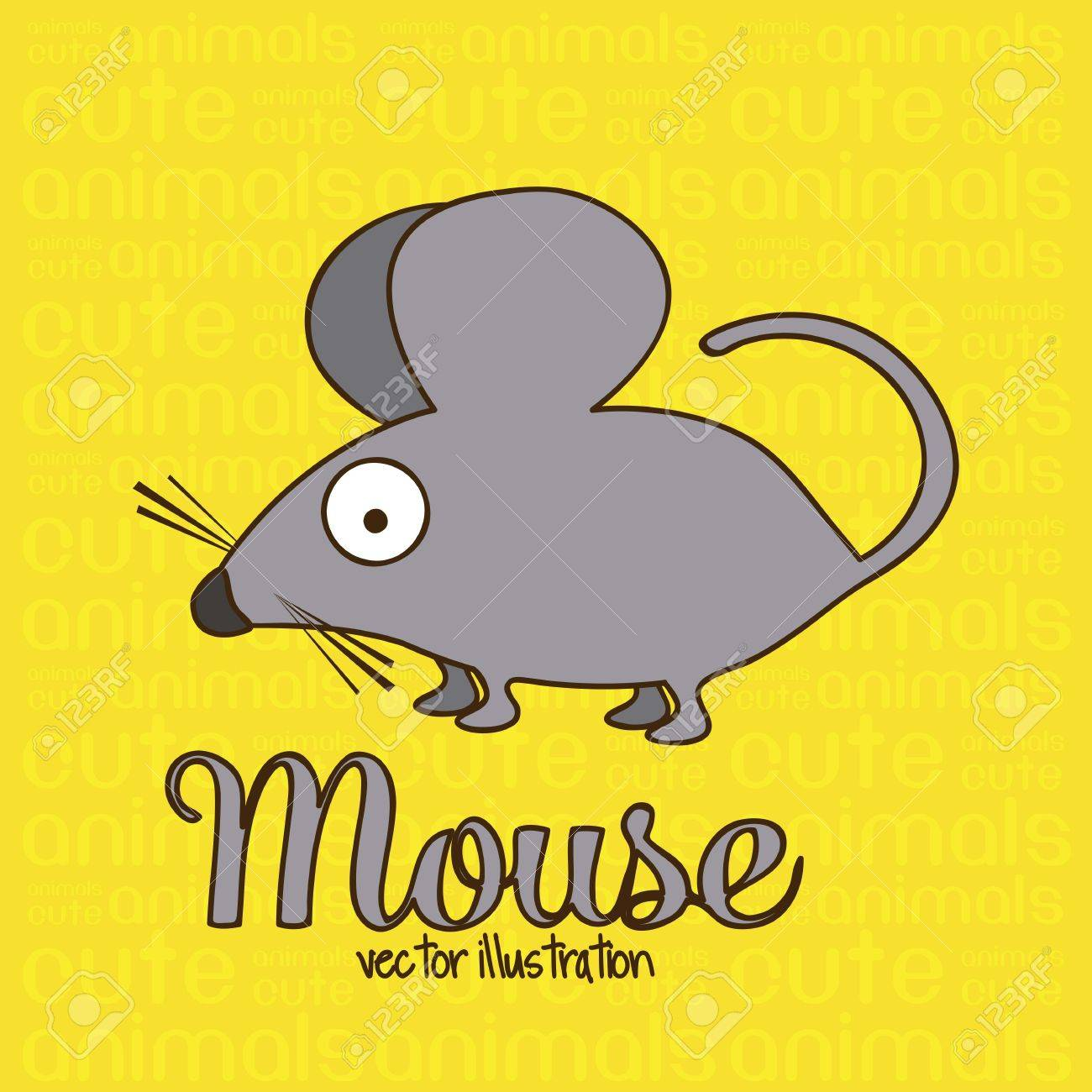 Illustration of Cute Animals. Mouse illustration. vector illustration Stock Vector - 17888863