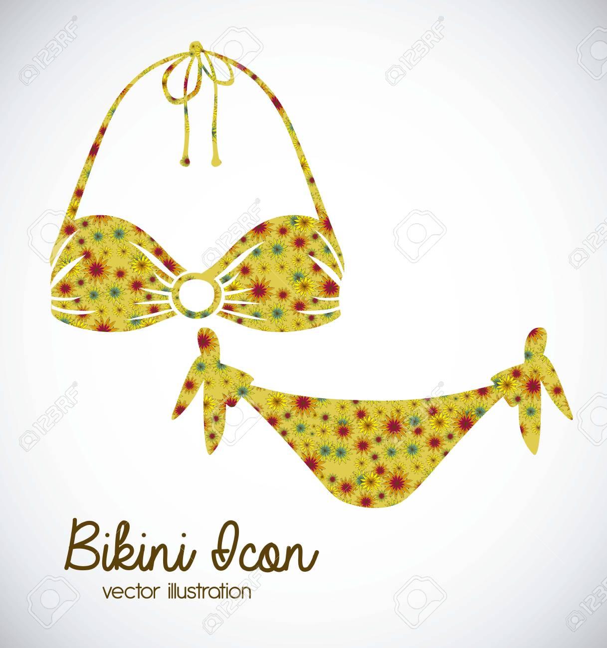 17684e8d8cf Foto de archivo - Ilustración del icono del bikini. Traje de baño dos piezas  de ilustración