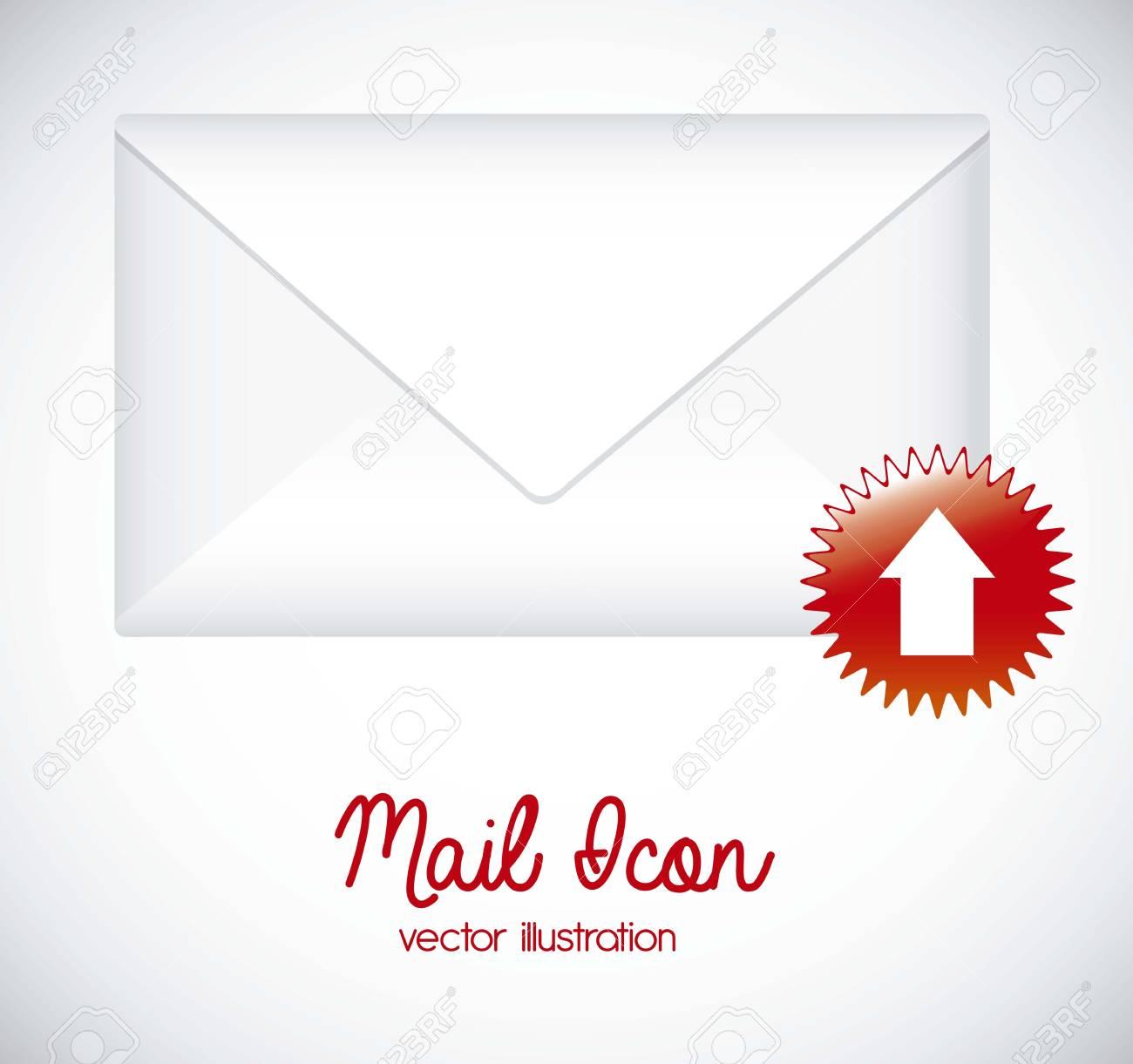 図メール アイコン。手紙メール イラストのイラスト ロイヤリティフリー