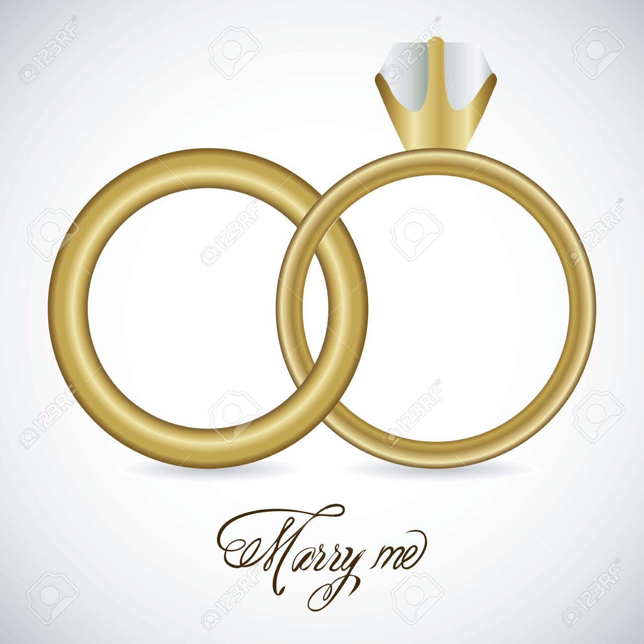 Cheap dress rings vector