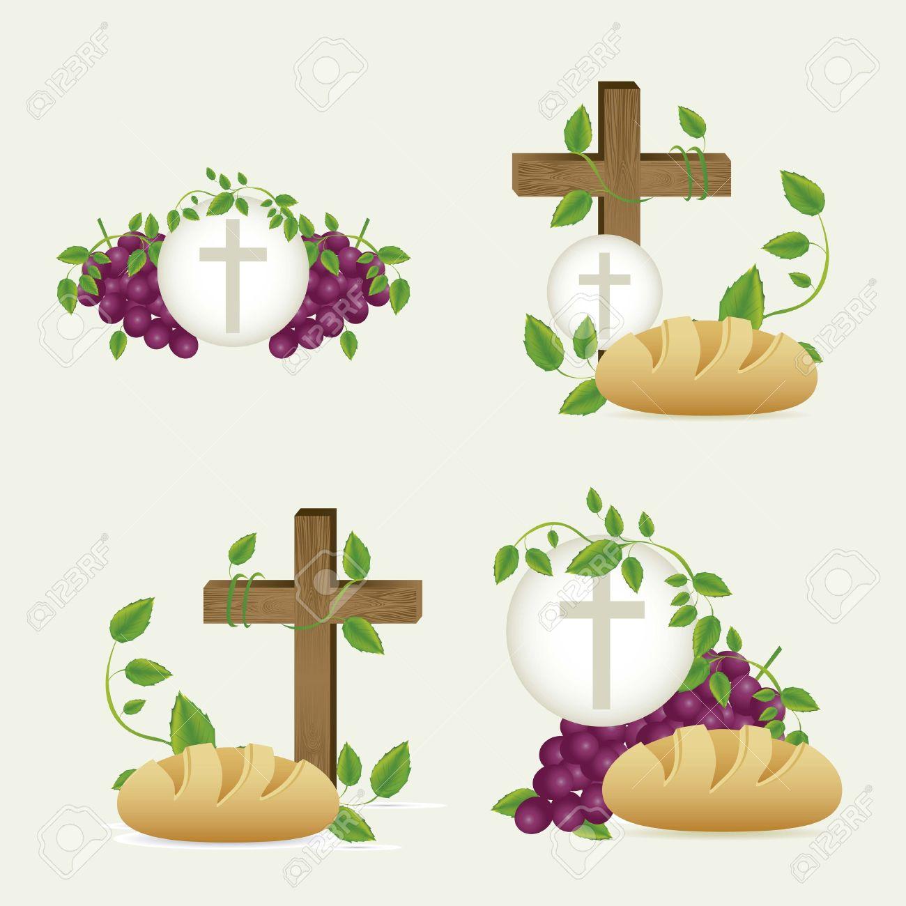 Illustration Of Jesus Christ, Eucharist And The Sacrament Of ...