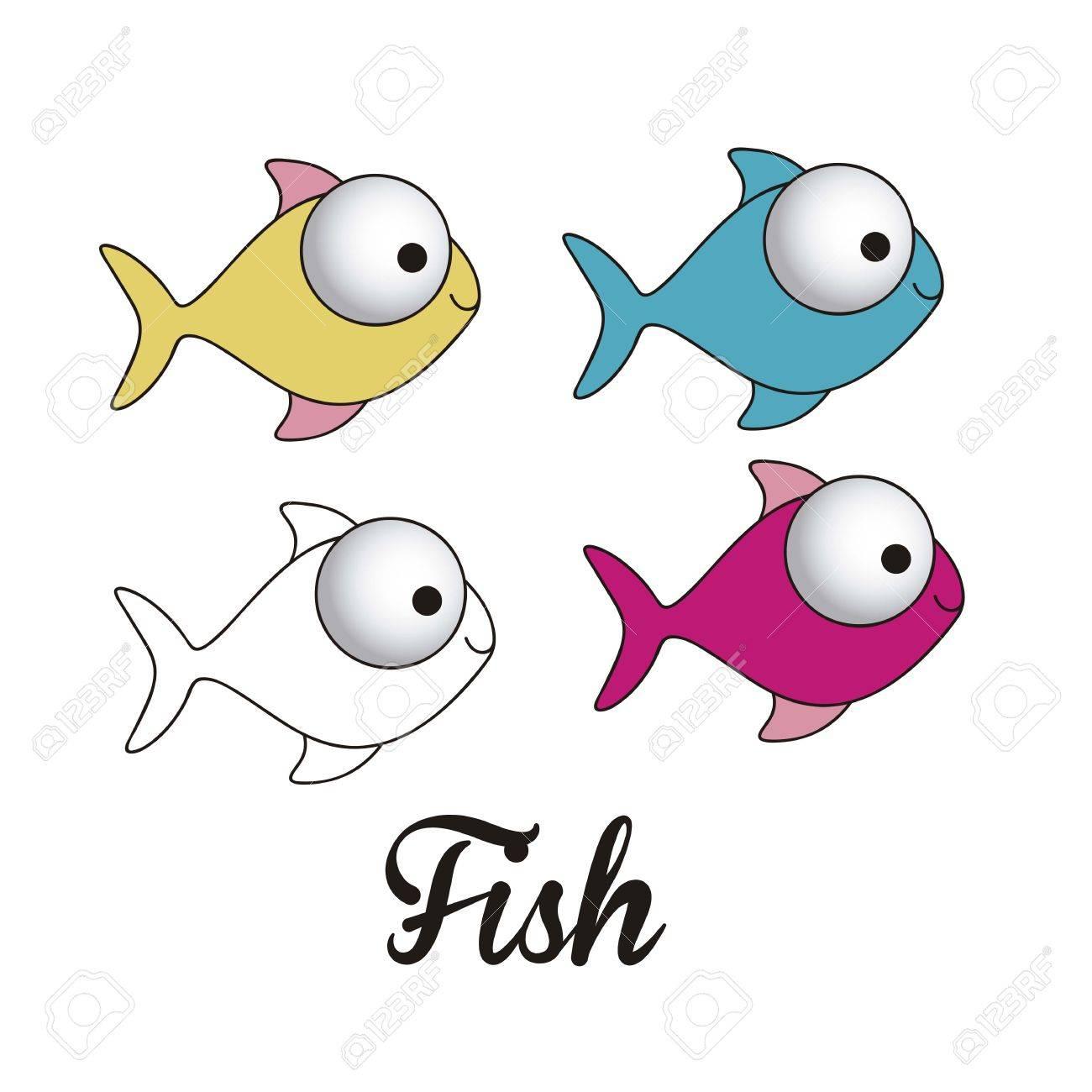illustration of icons of fish, aquatic animals Stock Vector - 18759961