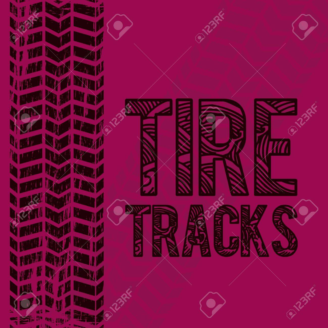 illustration of tire marks on white background Stock Vector - 18752422