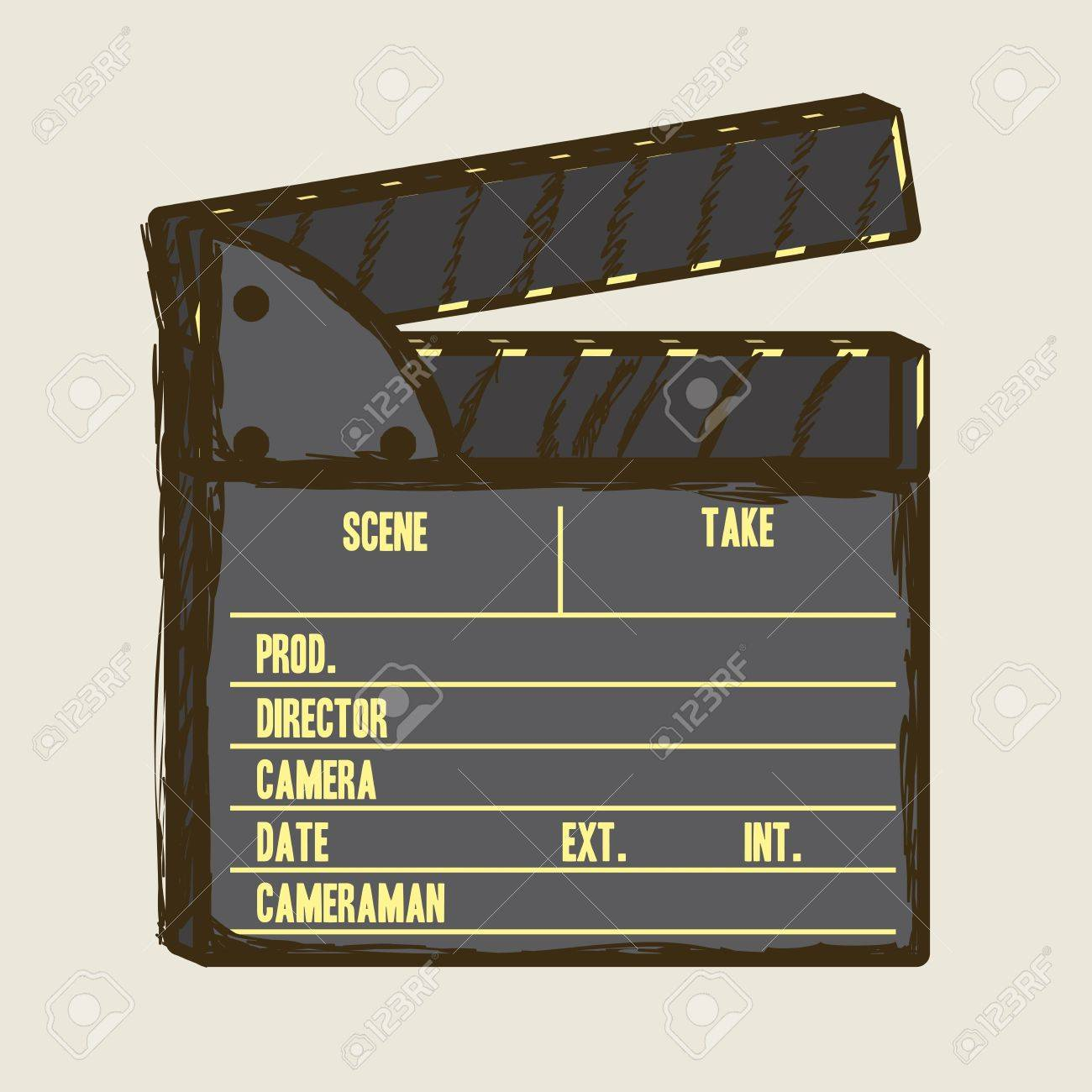 Illustration of cine icon, slate of director Film, vector illustration Stock Vector - 18954232