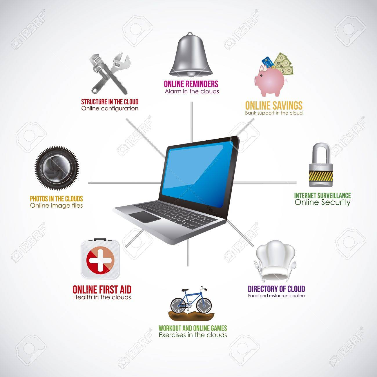 Illustration of icons of applications, app icons, vector illustration Stock Vector - 19051098