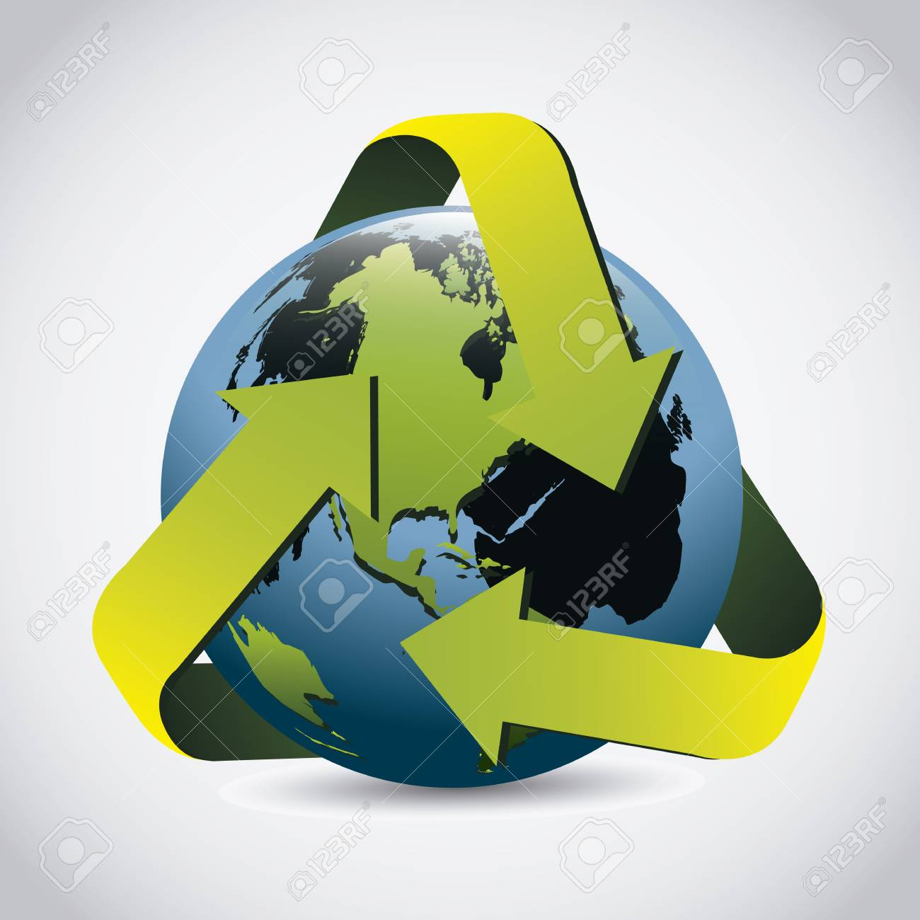 Illustration of planet earth, earth day, vector illustration Stock Vector - 19218504