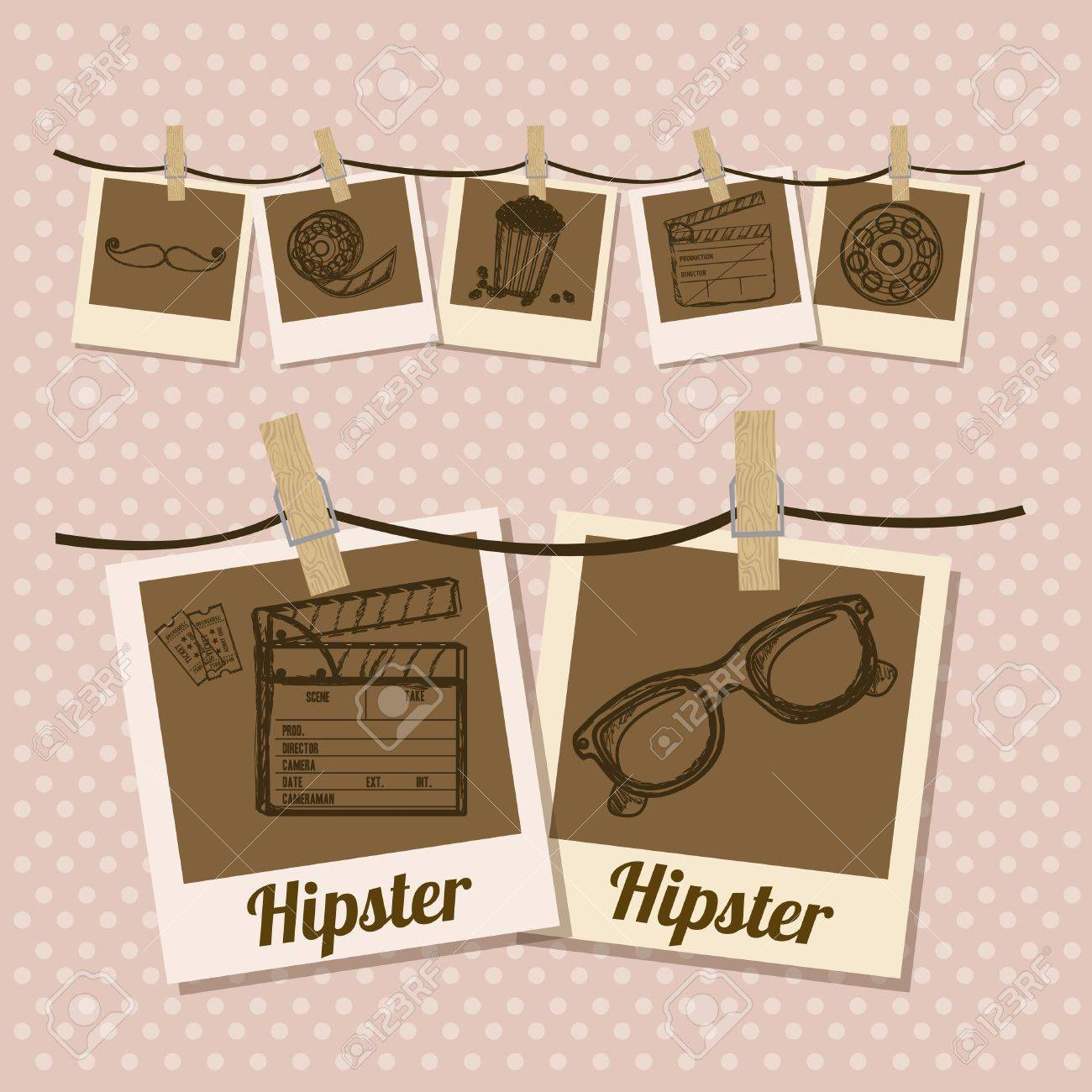 Illustration of style hipster, hipster culture and community, vector illustration Stock Vector - 19461993