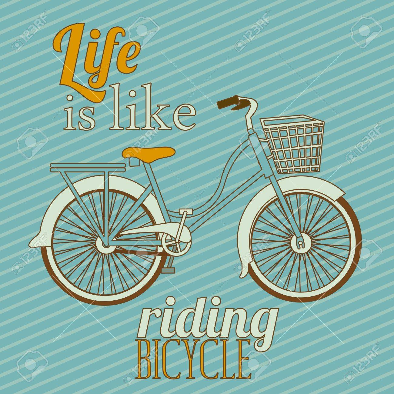 Illustration of Bicycle, Riding on the bicycle, vector illustration Stock Vector - 19461816
