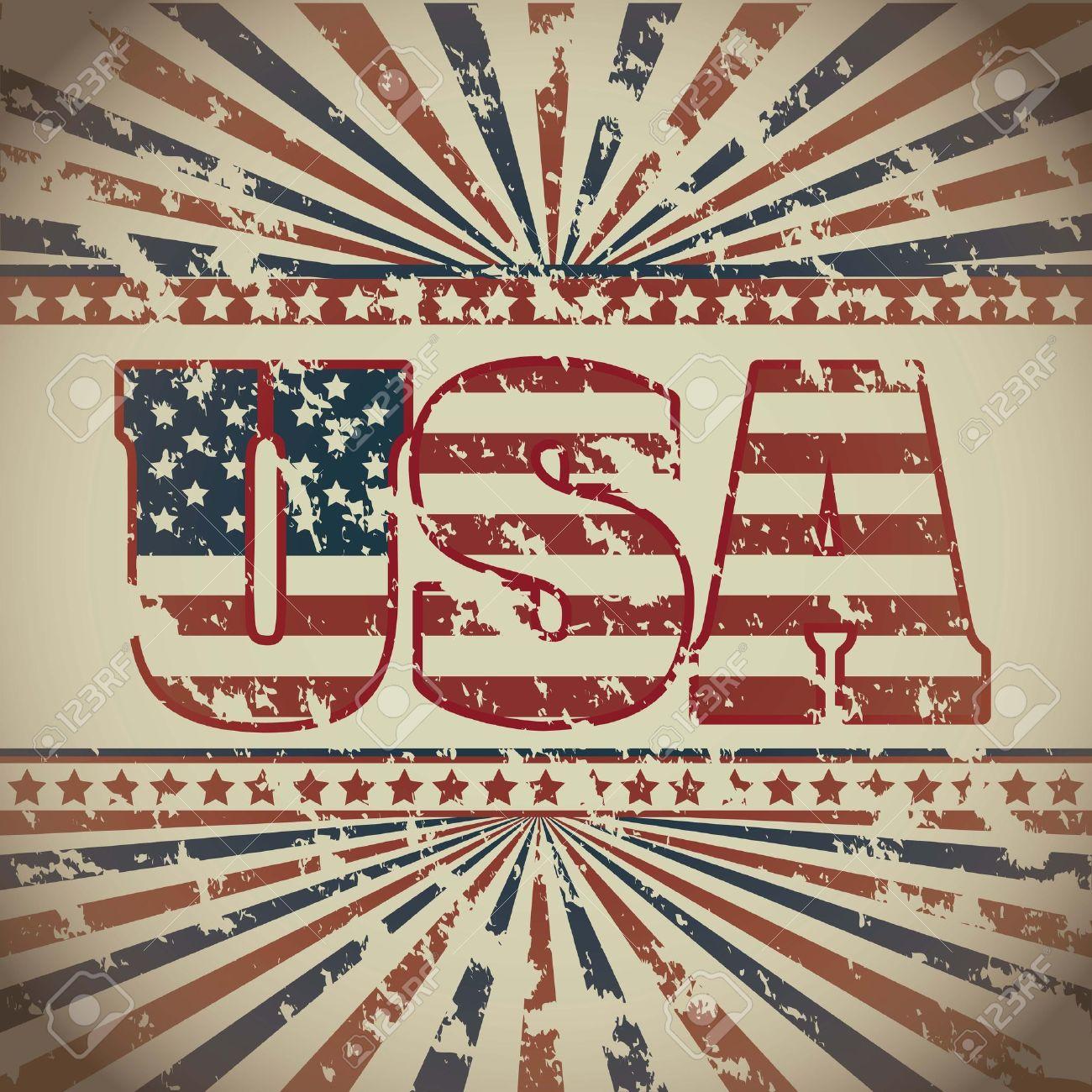 illustration patriot united states of america usa poster vector illustration stock vector 19462134