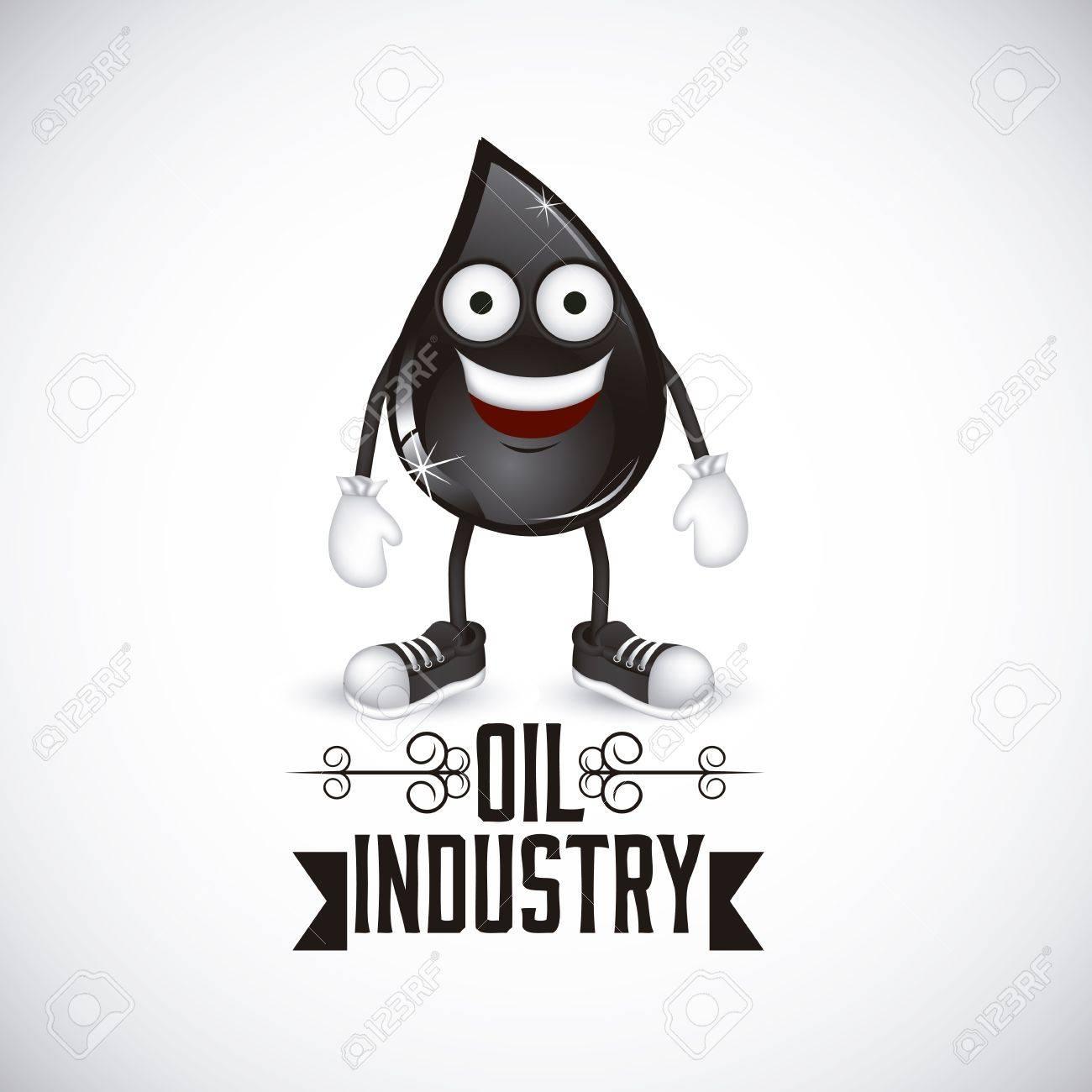 Illustration of the oil industry, oil cartoon character, illustration Stock Vector - 19673456