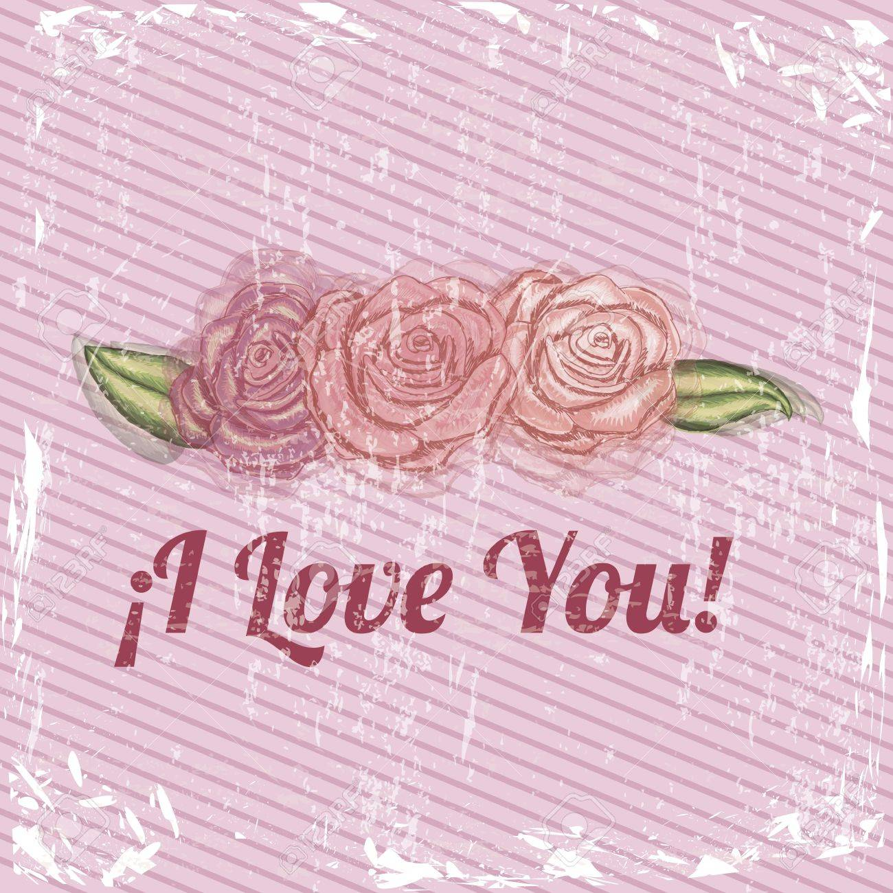 i love you design over pink bacground vector illustration Stock Vector - 20070164