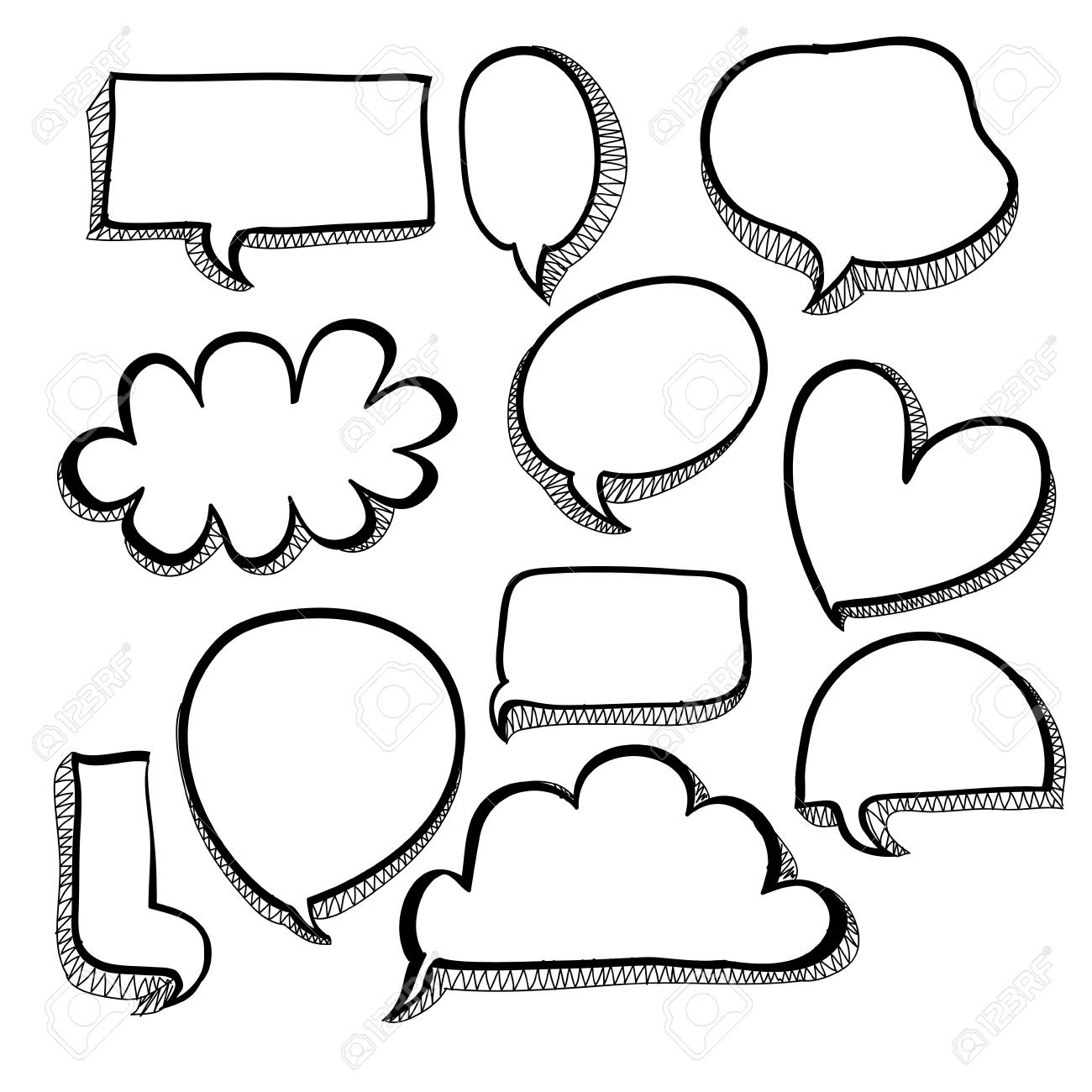 bubbles icons over white background Stock Vector - 20546069