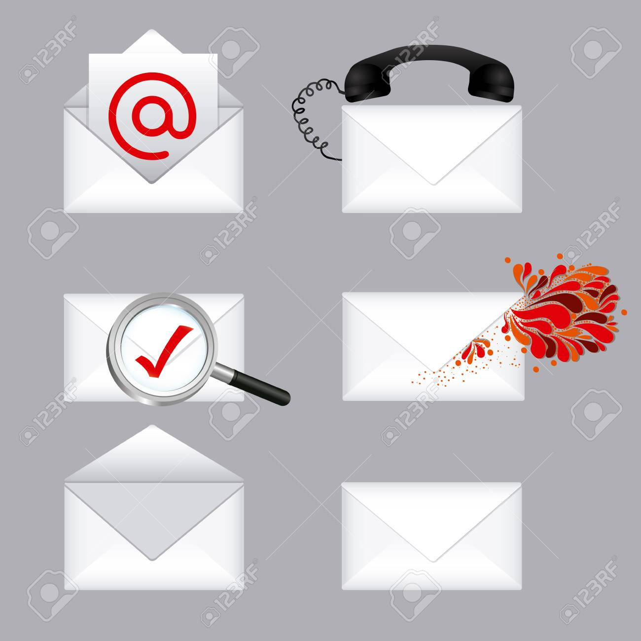 mail types over gray background illustration Stock Vector - 20983647