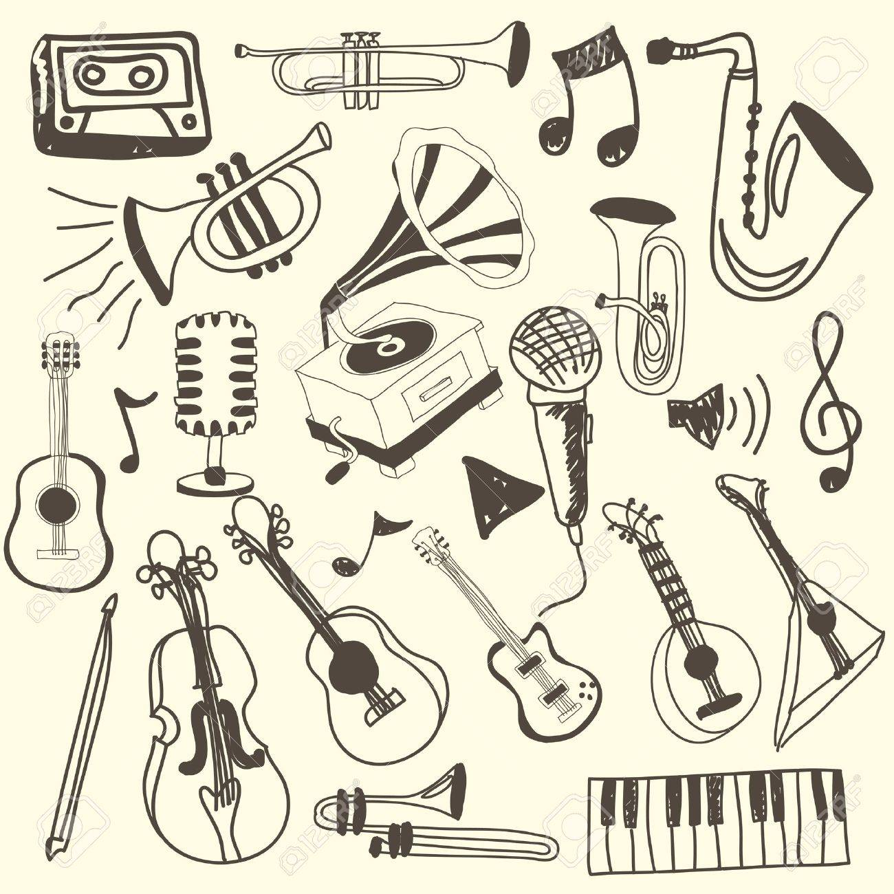 music icons over pink background vector illustration Stock Vector - 21295791