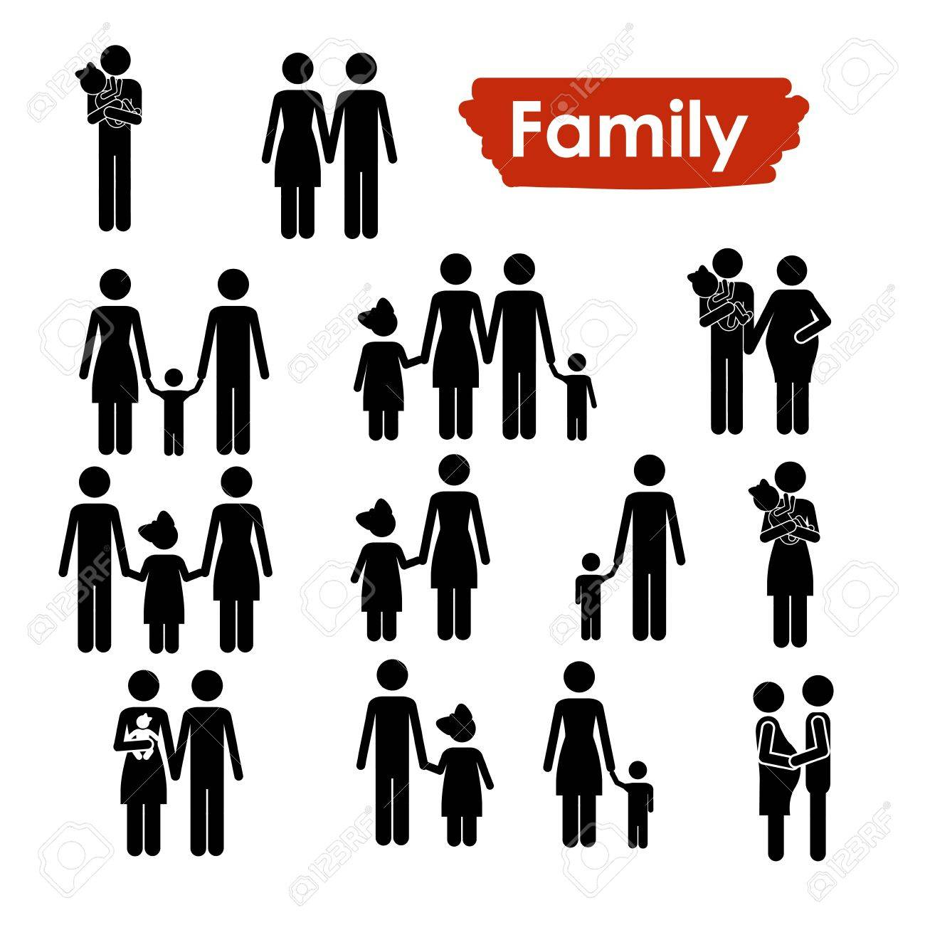 family icons over white background vector illustration Stock Vector - 21517435