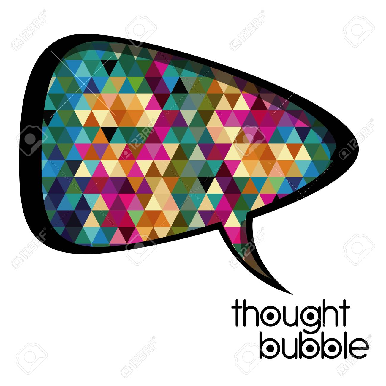 thought bubble over white background vector illustration Stock Vector - 21517540