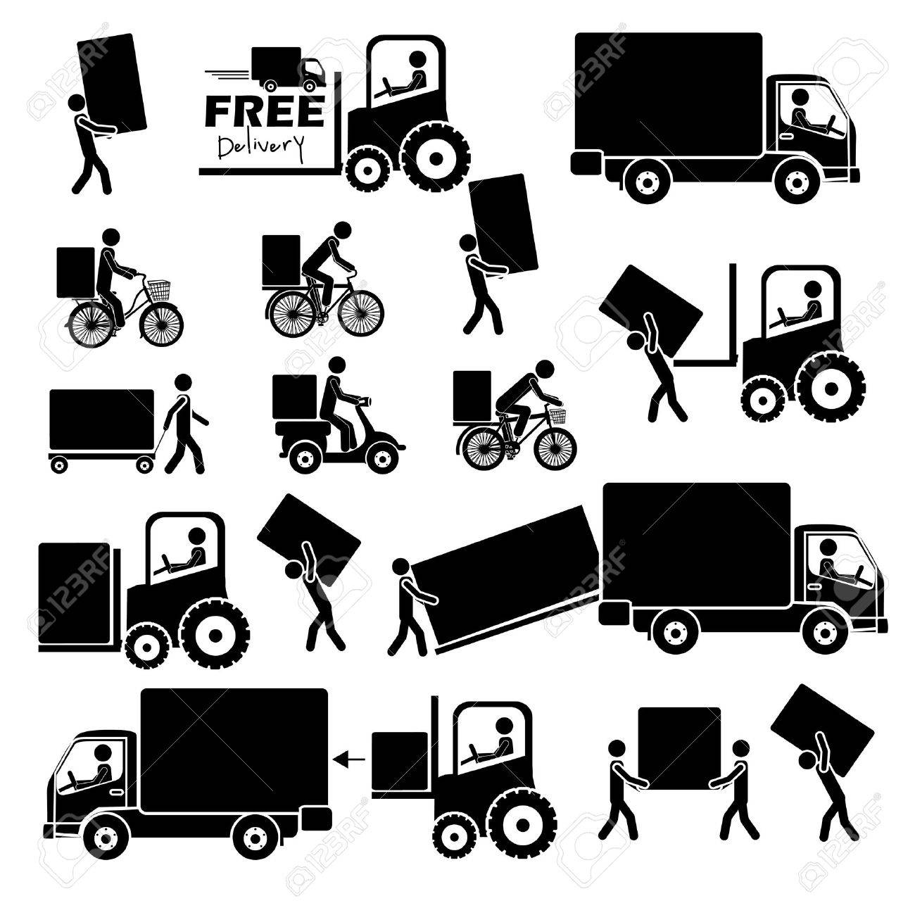 delivery icons over white background vector illustration Stock Vector - 21517891