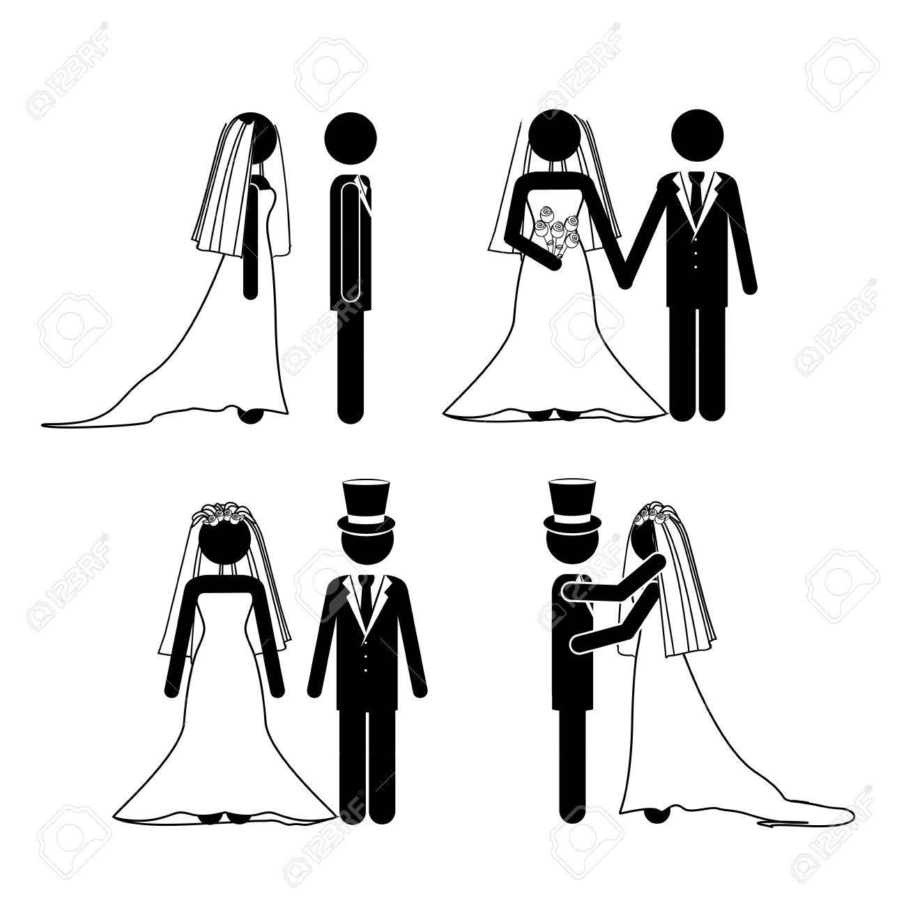 wedding design over white background vector illustration Stock Vector - 21522007