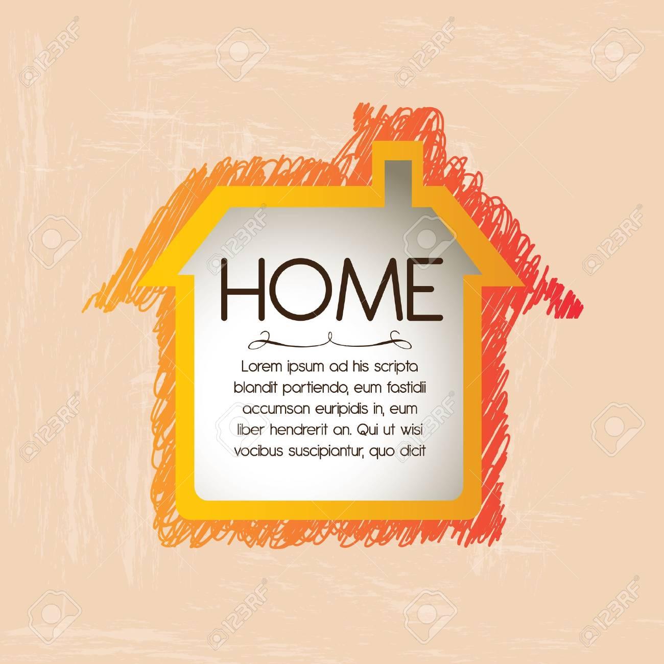home design over pink  background vector illustration Stock Vector - 21876650