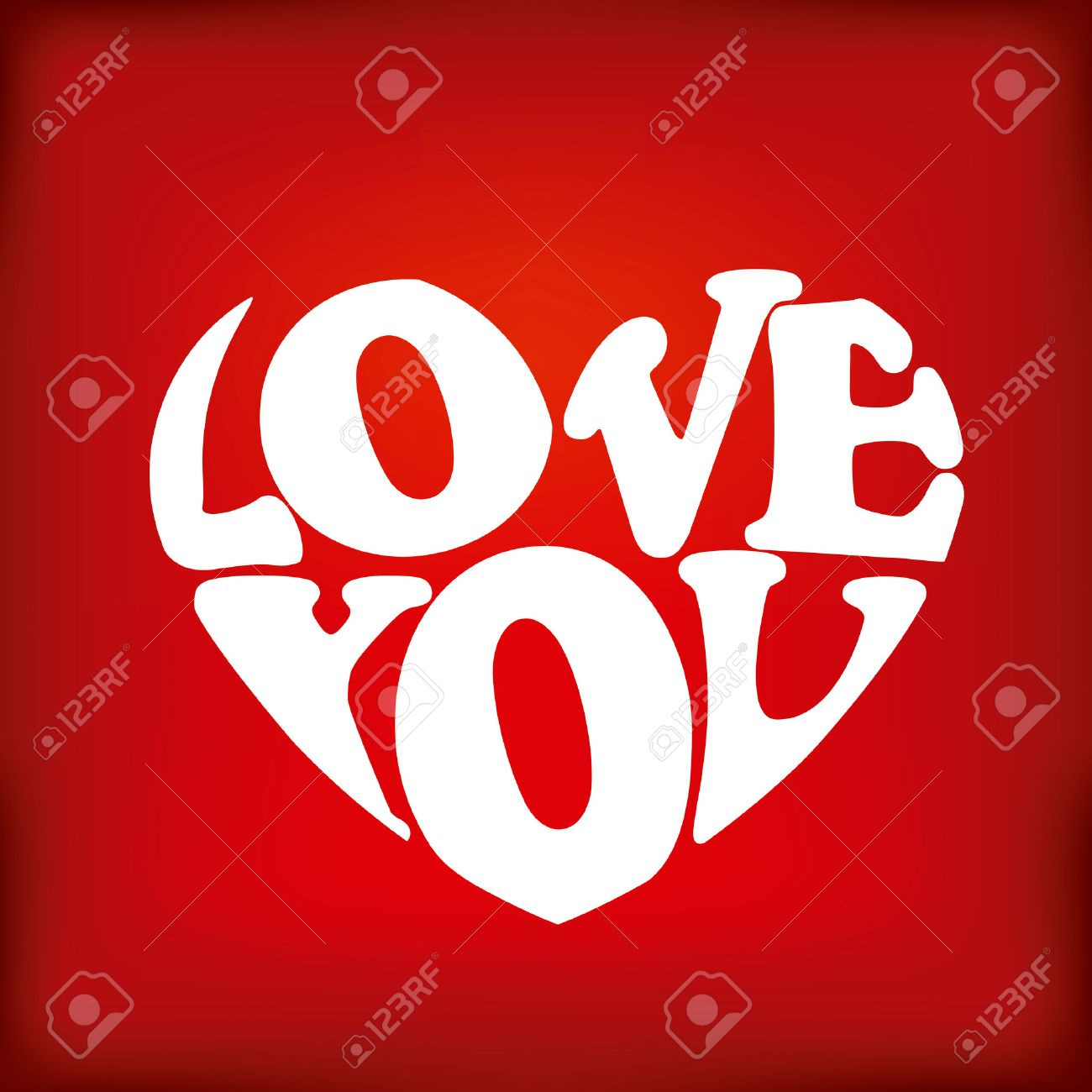 Love card with a big heart over red background vector illustration Stock Vector - 22453285