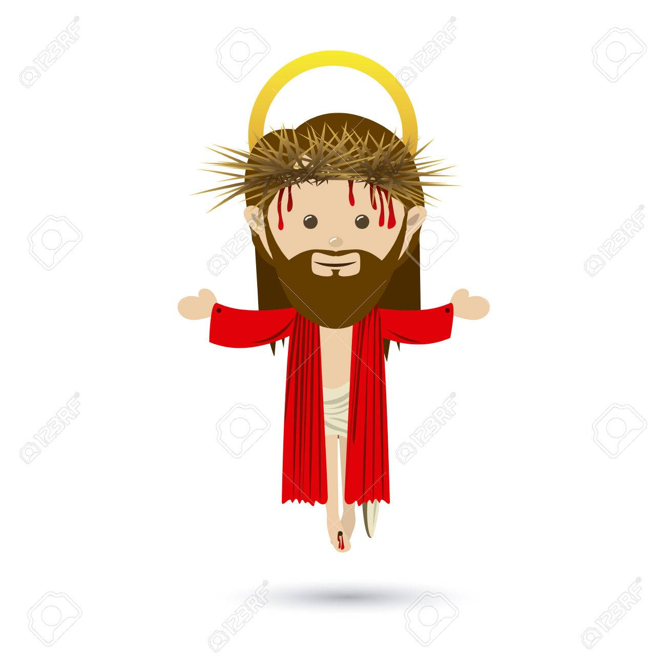 jesuschrist design over white background vector illustration Stock Vector - 22453444