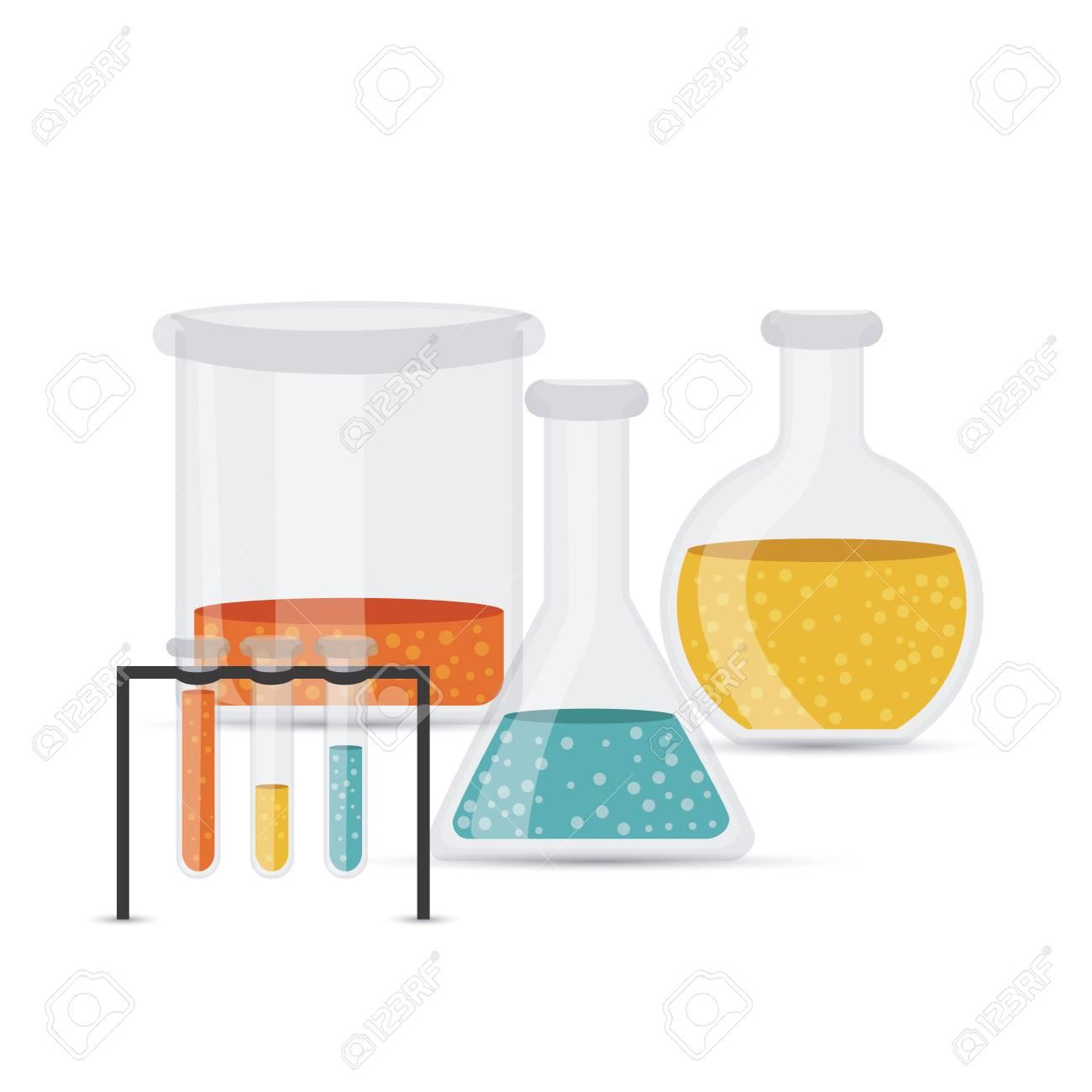 test tubes over white background vector illustration Stock Vector - 22453448