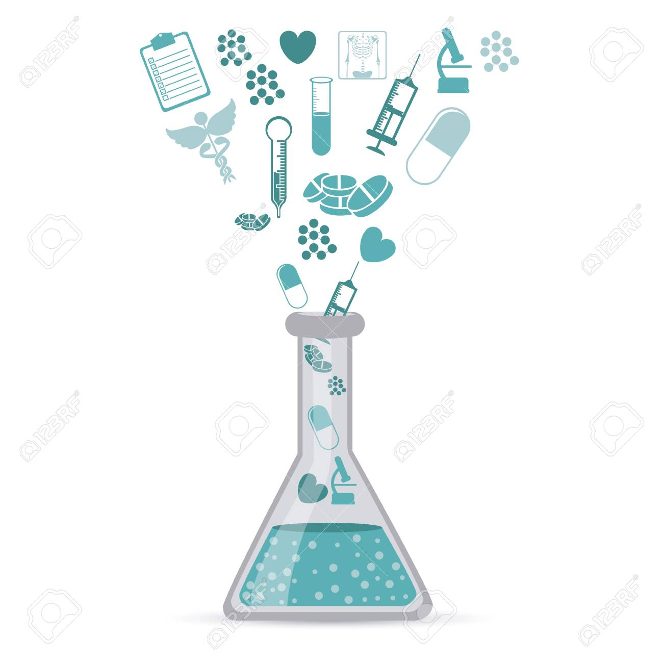 medical icons over white background vector illustration Stock Vector - 22453464
