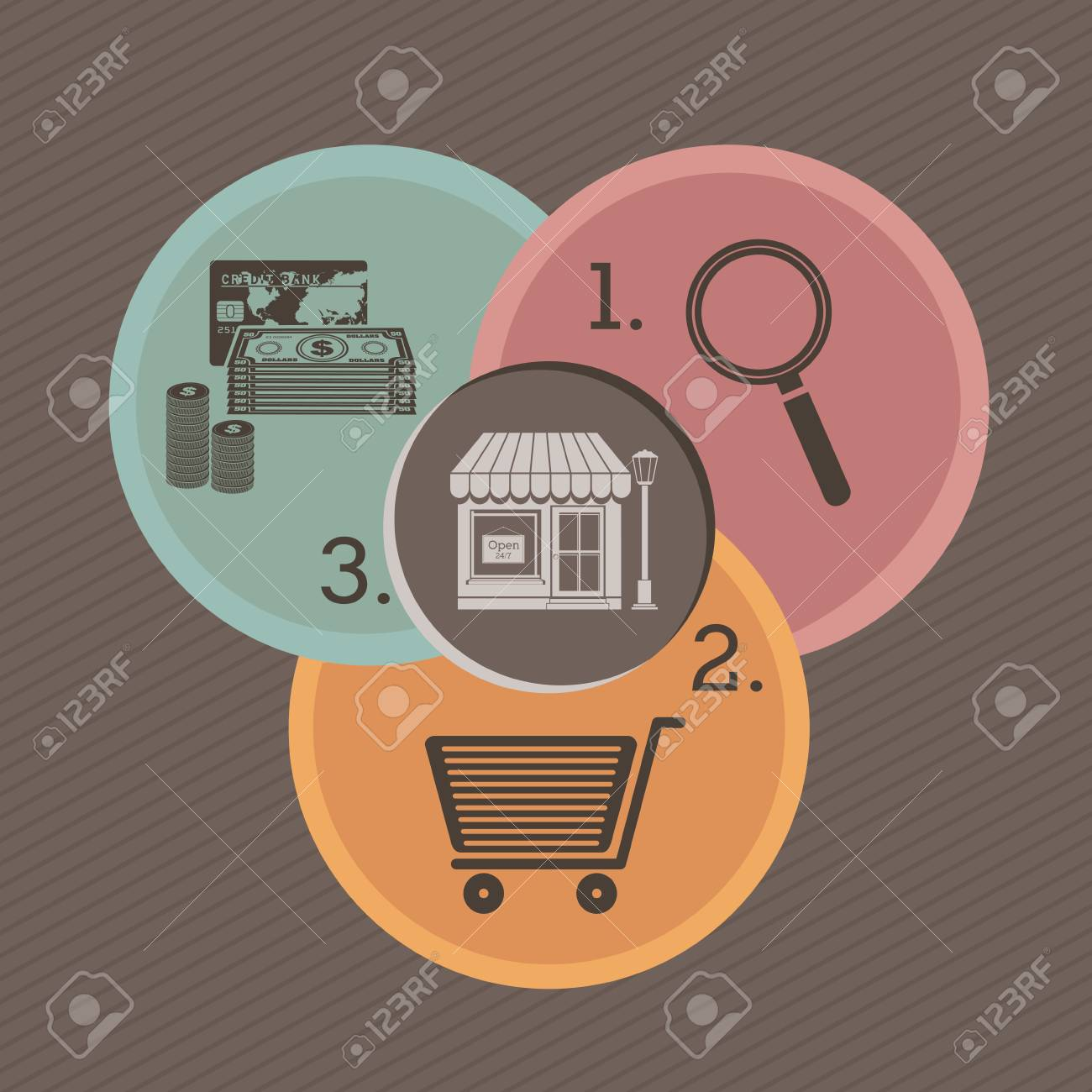 buy icons over gray background vector illustration Stock Vector - 23747096