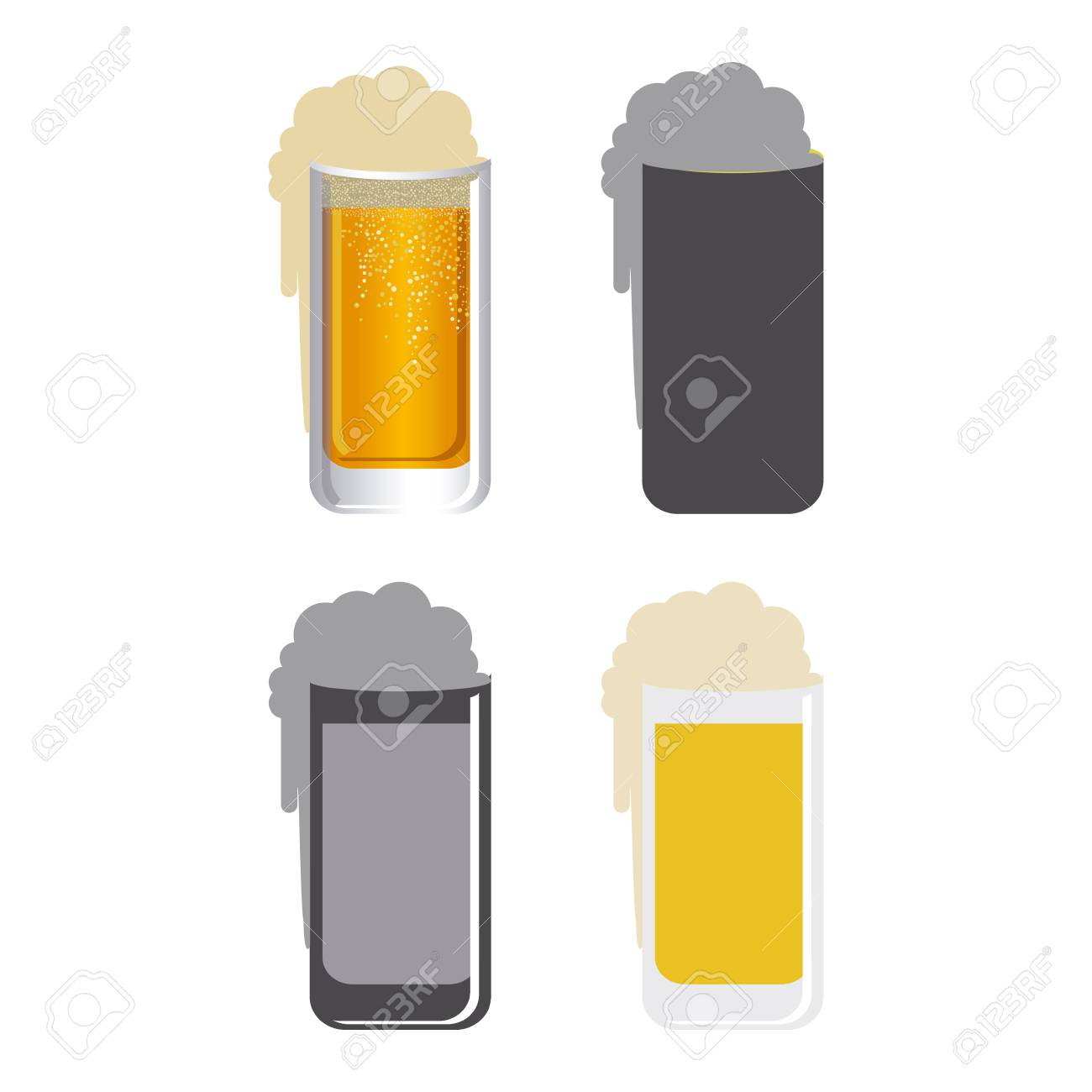 beers design over white  background vector illustration Stock Vector - 24471470