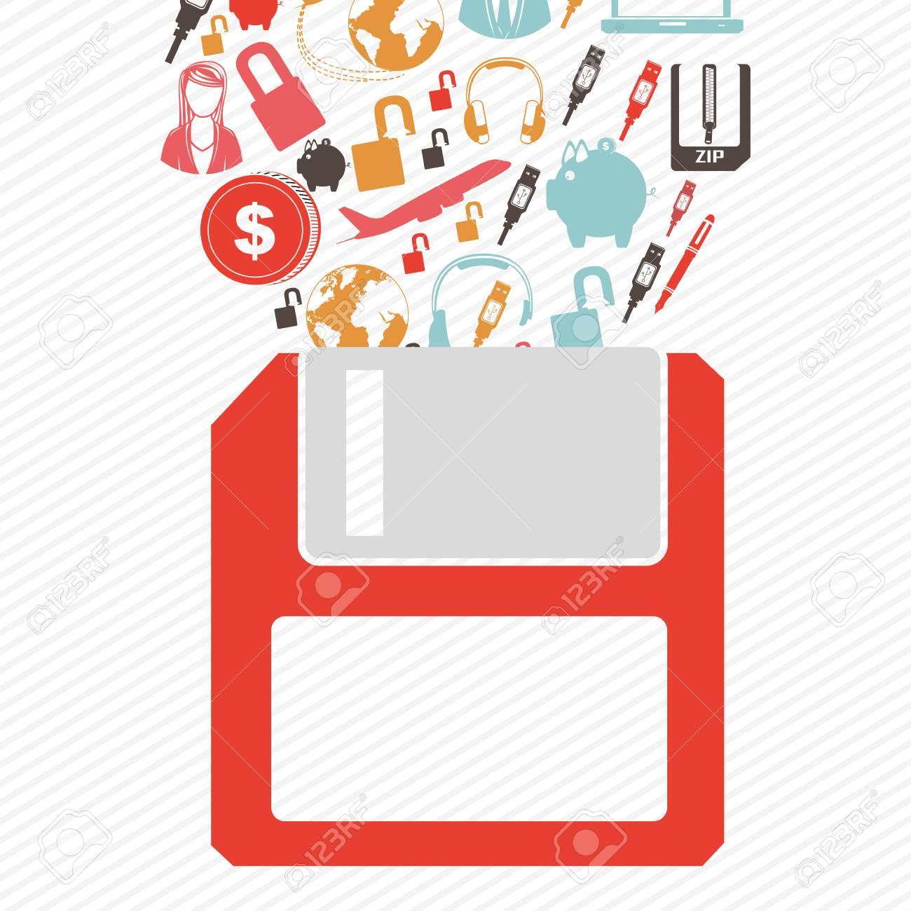 shop on line  over  white  background. vector illustration Stock Vector - 25507660