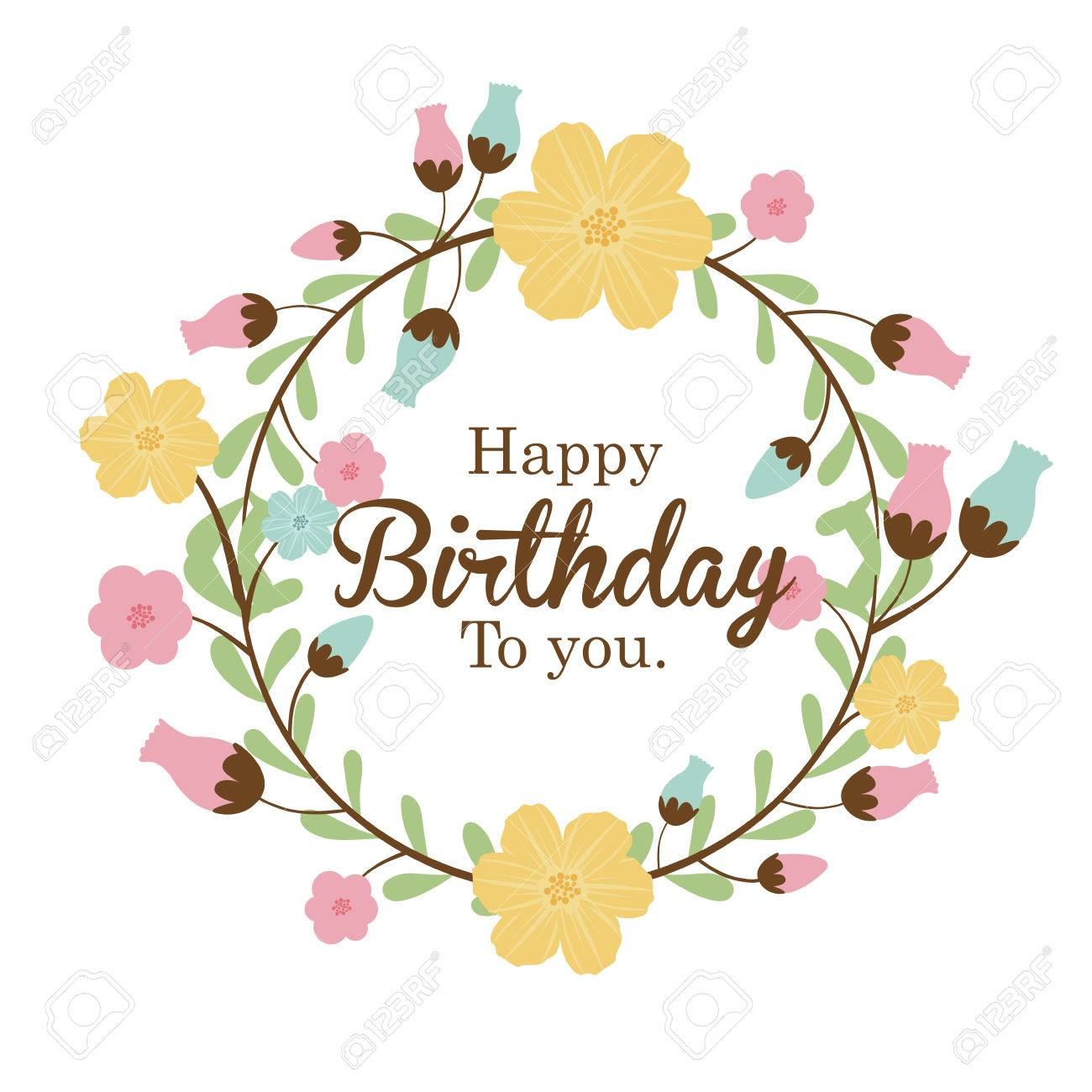 happy birthday  design over white background vector illustration Stock Vector - 27181426