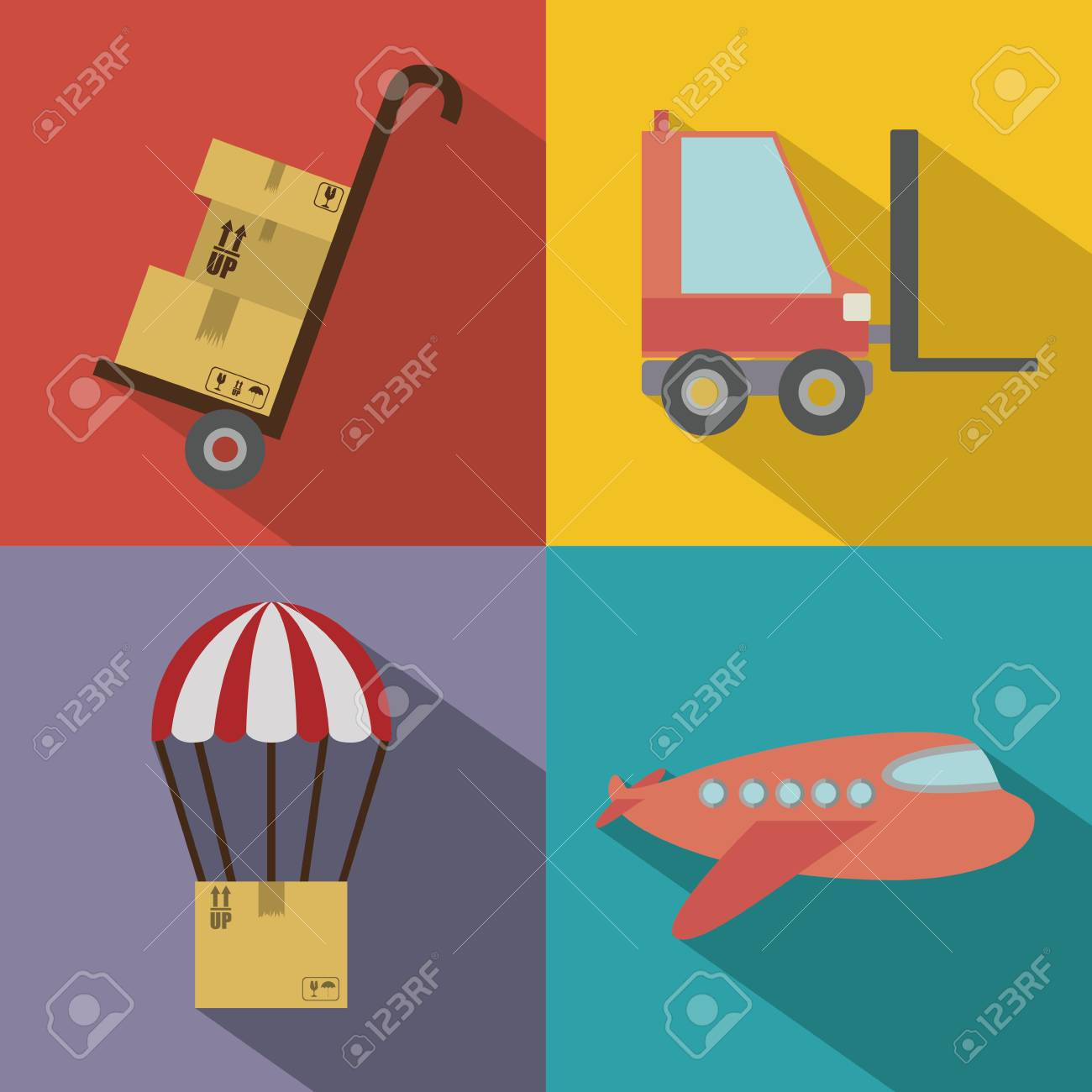 Delivery design over colorful background,vector illustration Stock Vector - 28487667