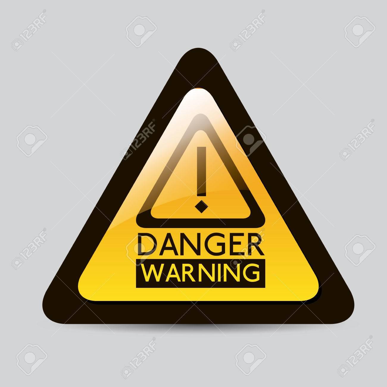 Danger design over gray background, vector illustration Stock Vector - 29423871