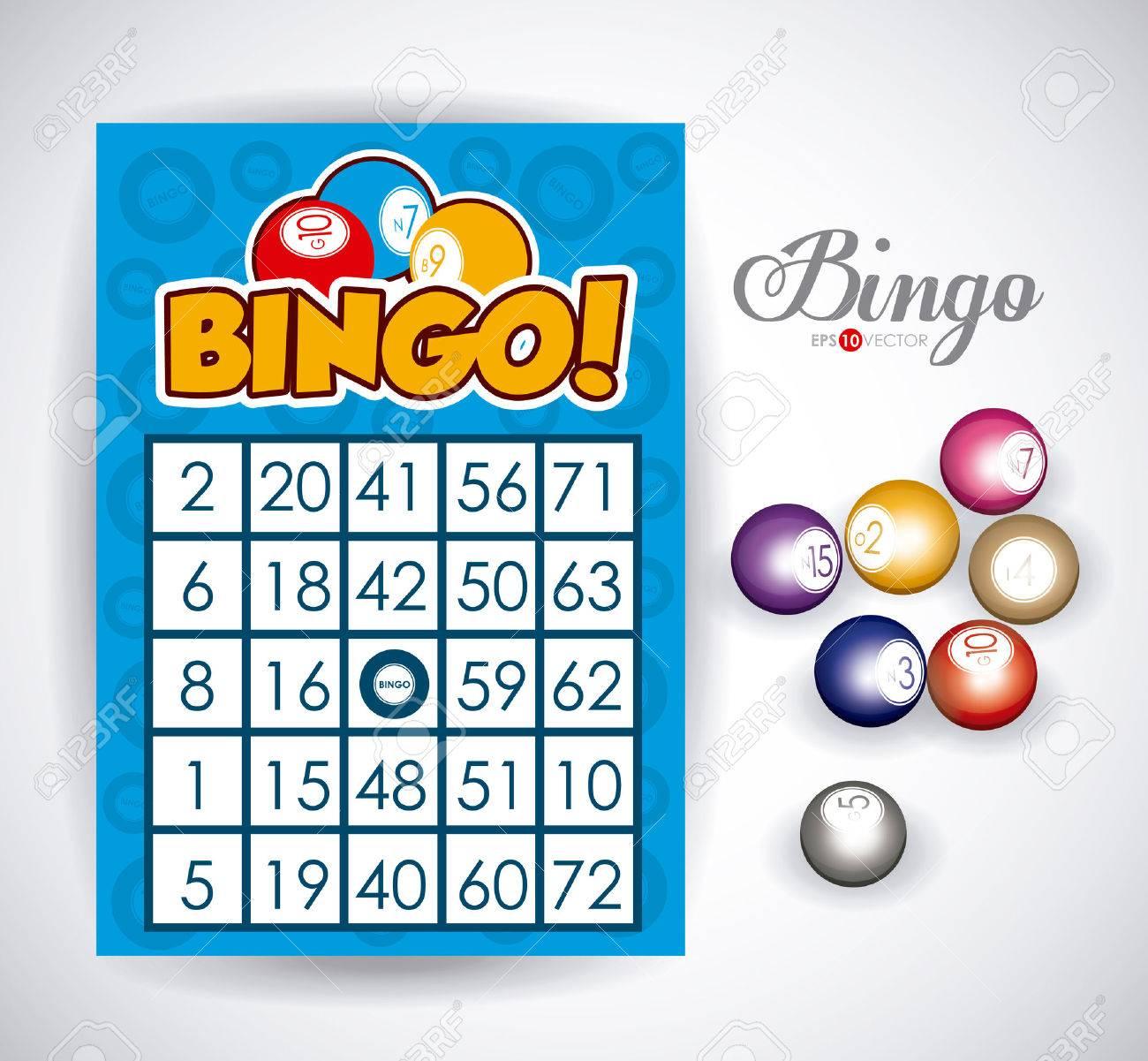 Bingo design over white background, vector illustration. - 36249994