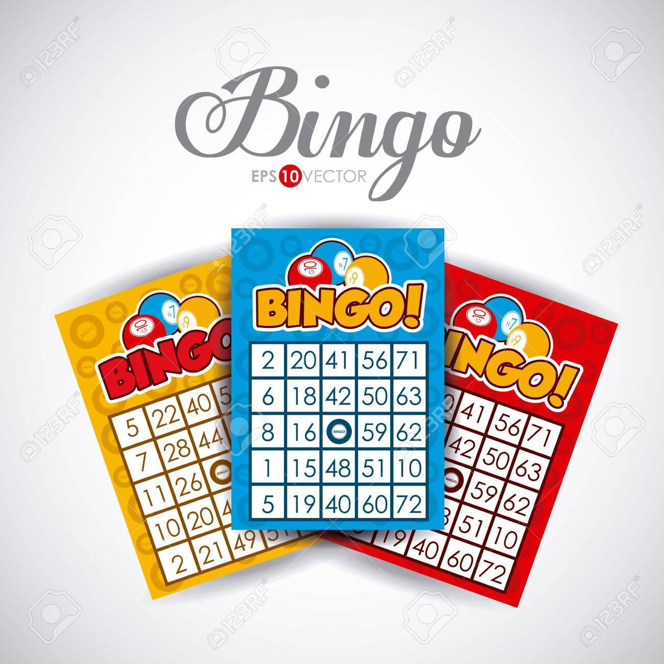 Bingo design over white background, vector illustration. - 36249999