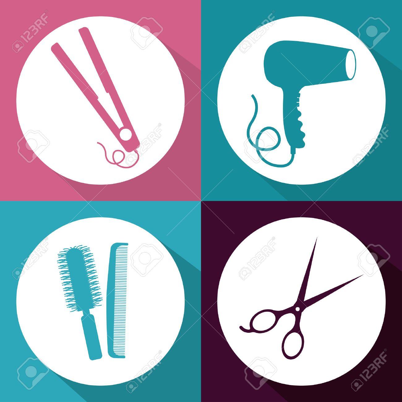 Hair Salon design over multicolored background, vector illustration - 38243111