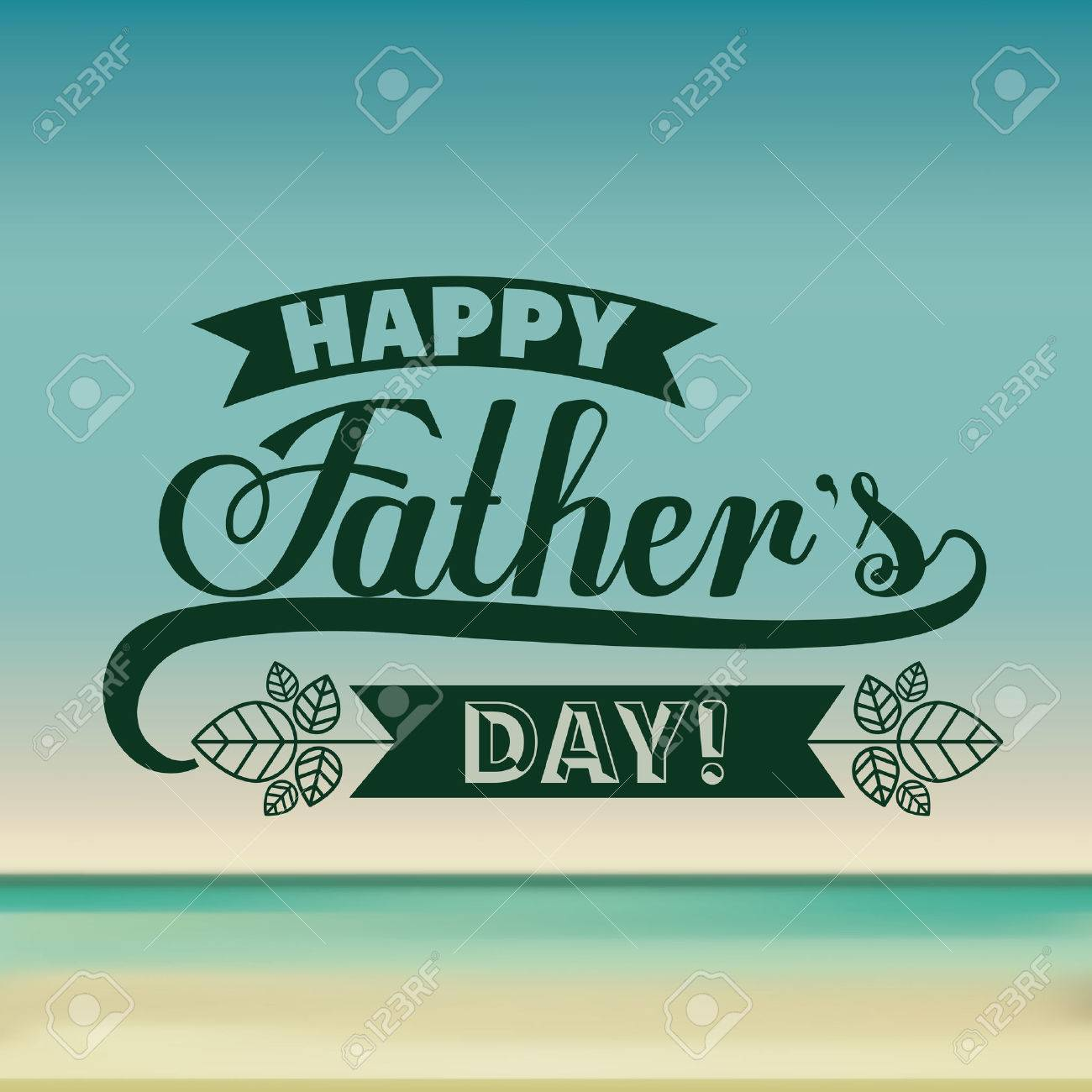 fathers day design over colored background, vector illustration - 38704594