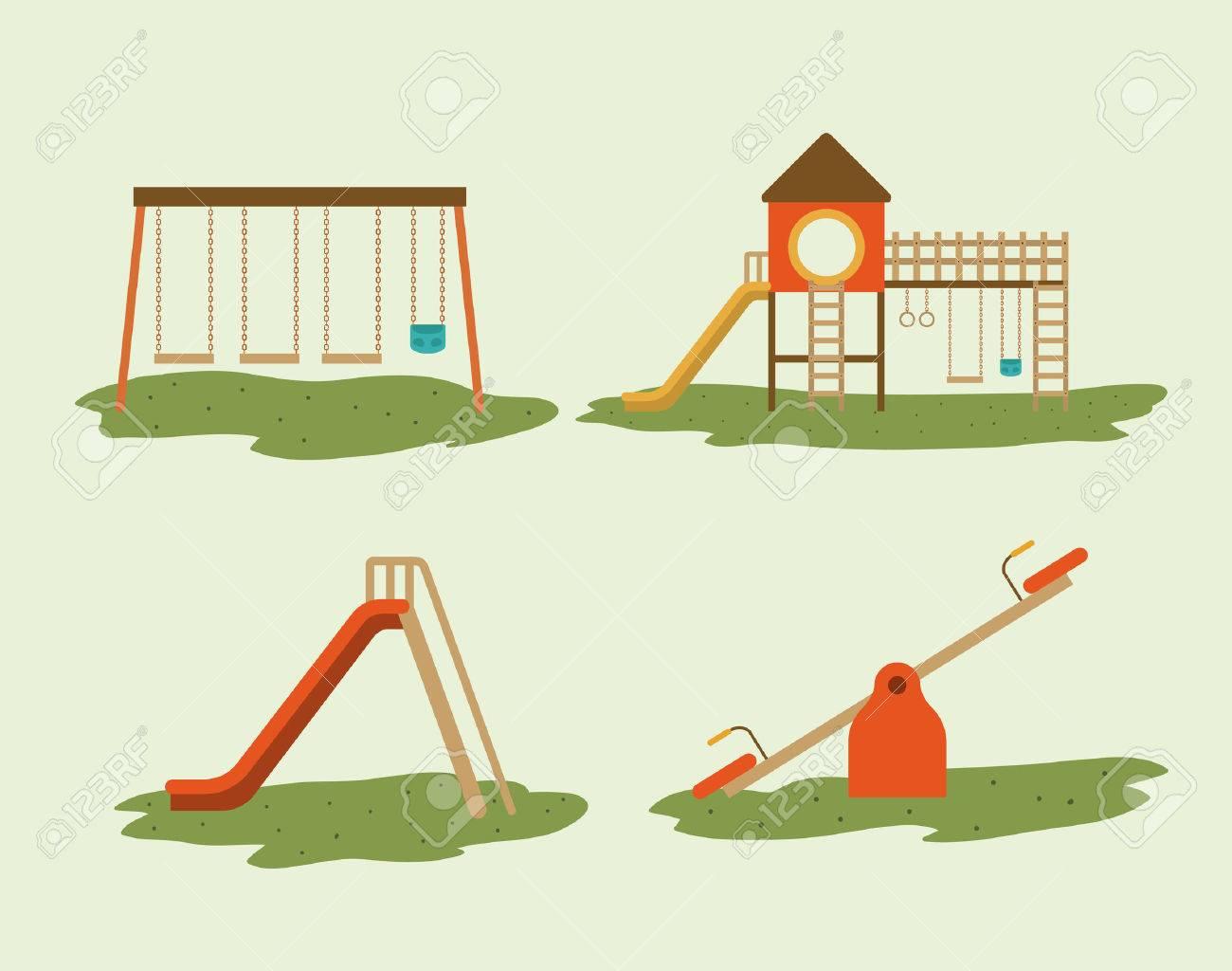 Playground design over white background, vector illustration - 38706829
