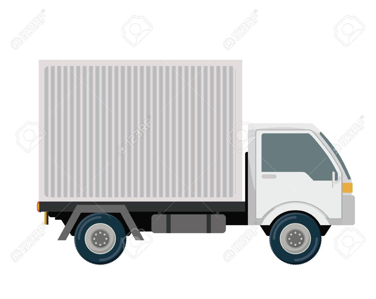 Logistics and delivery design over white background, vector illustration - 39167906