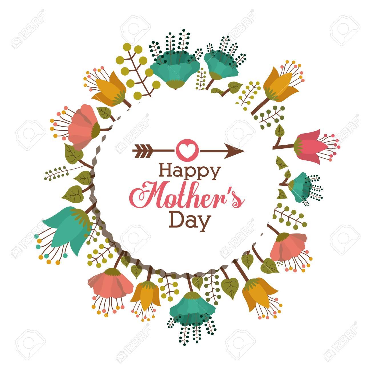 Mothers day design over white background, vector illustration - 39170674