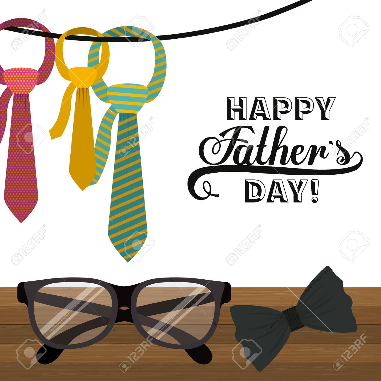 Fathers day design over white background, vector illustration - 39707589