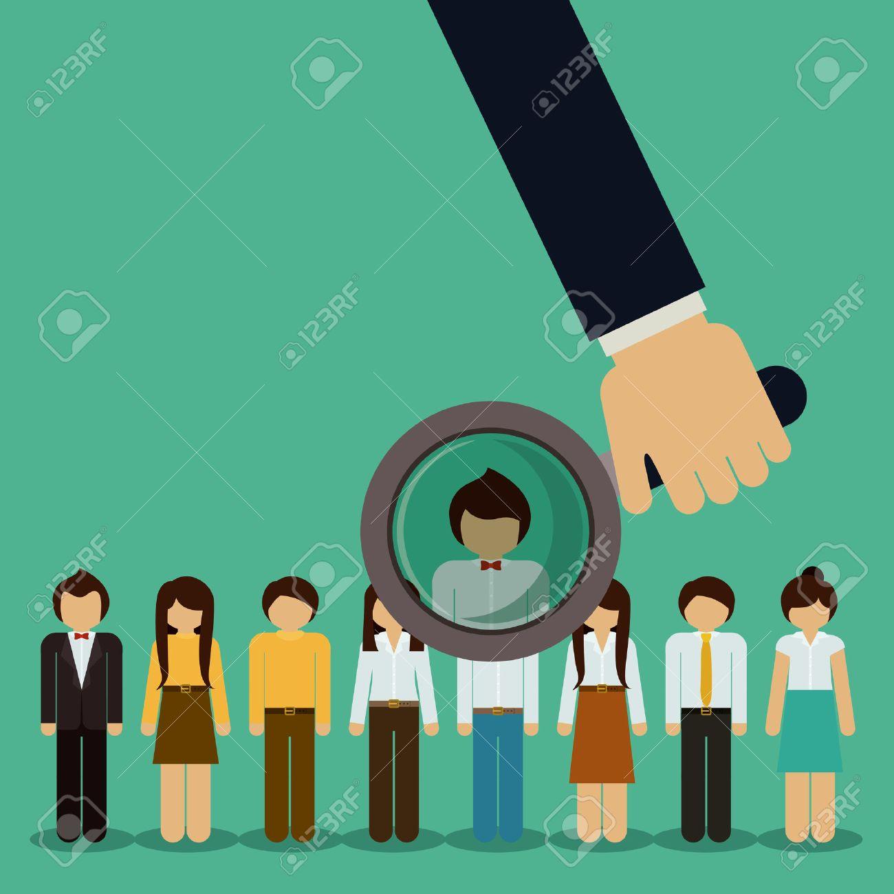 Human Resources design over green background, vector illustration - 40204027