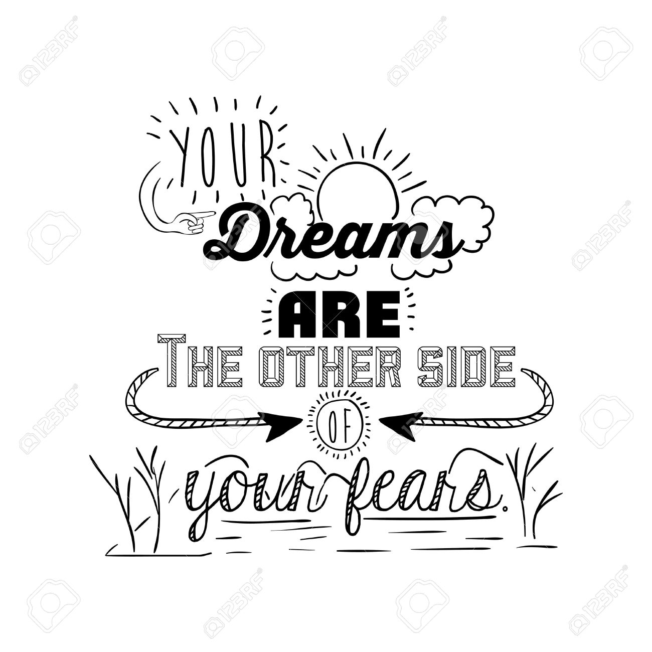 encourage quotes design, over white background, vector illustration - 42123864