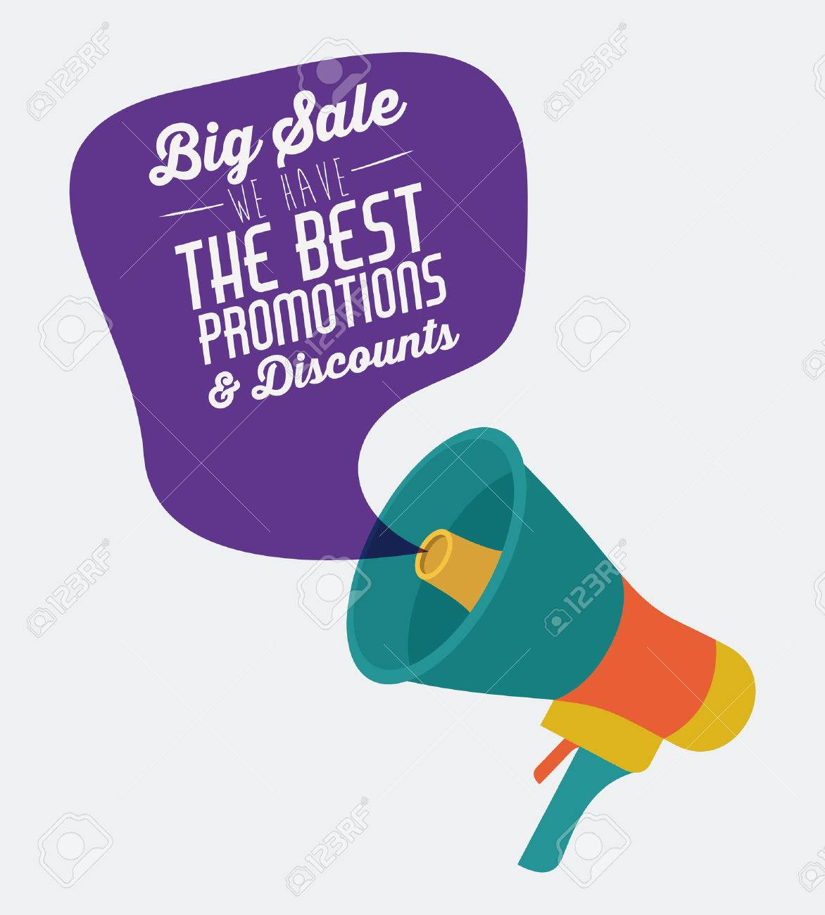 Promotions and discounts message digital design - 44930409