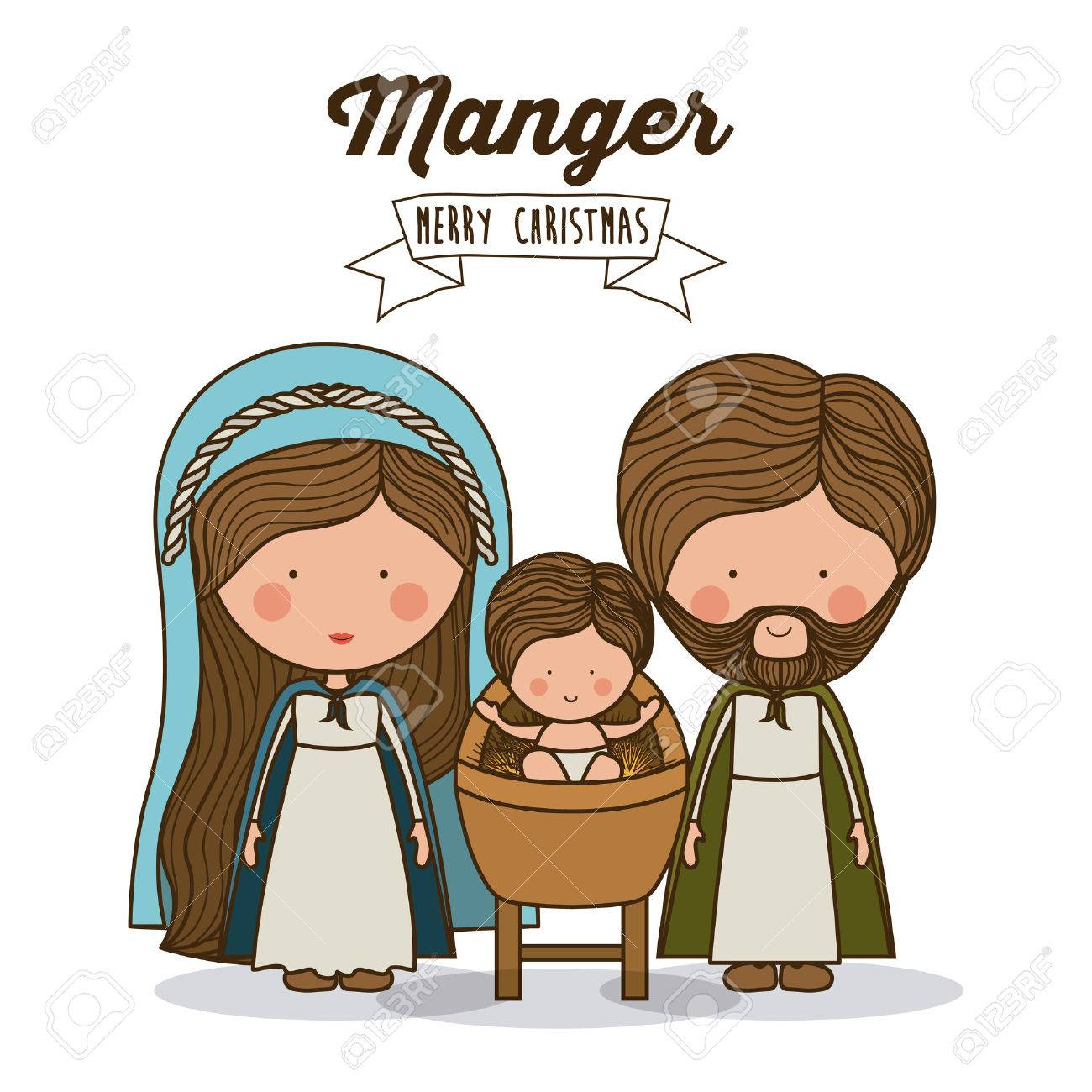 Merry Christmas concept about holy family design - 44930082